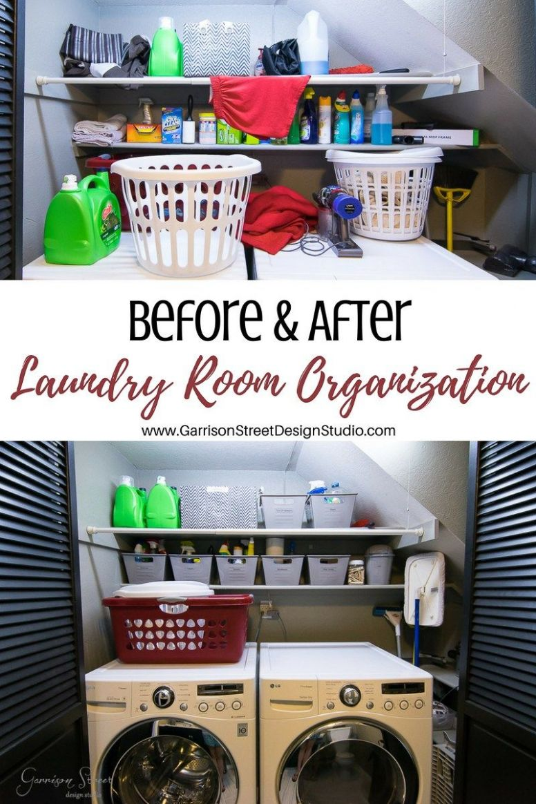 EASY Laundry Room Organization | Laundry room organization, Small ..