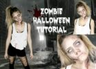 Easy Zombie Halloween Tutorial | Last Minute Idea!