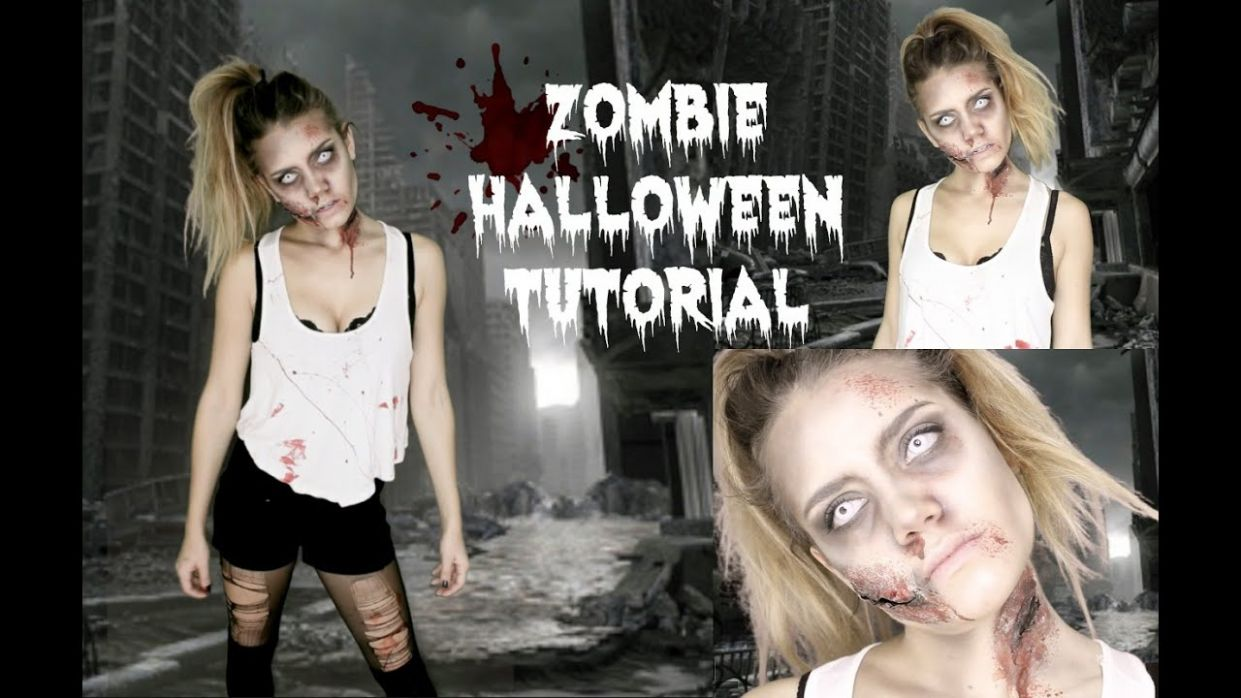 Easy Zombie Halloween Tutorial | Last Minute Idea! - halloween costume ideas zombie