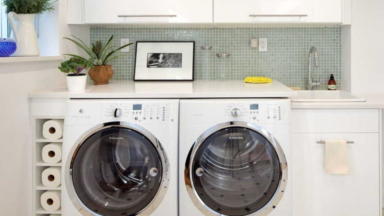 Efficient Use Of The Space- 10 Small Laundry Room Design Ideas - efficient laundry room ideas
