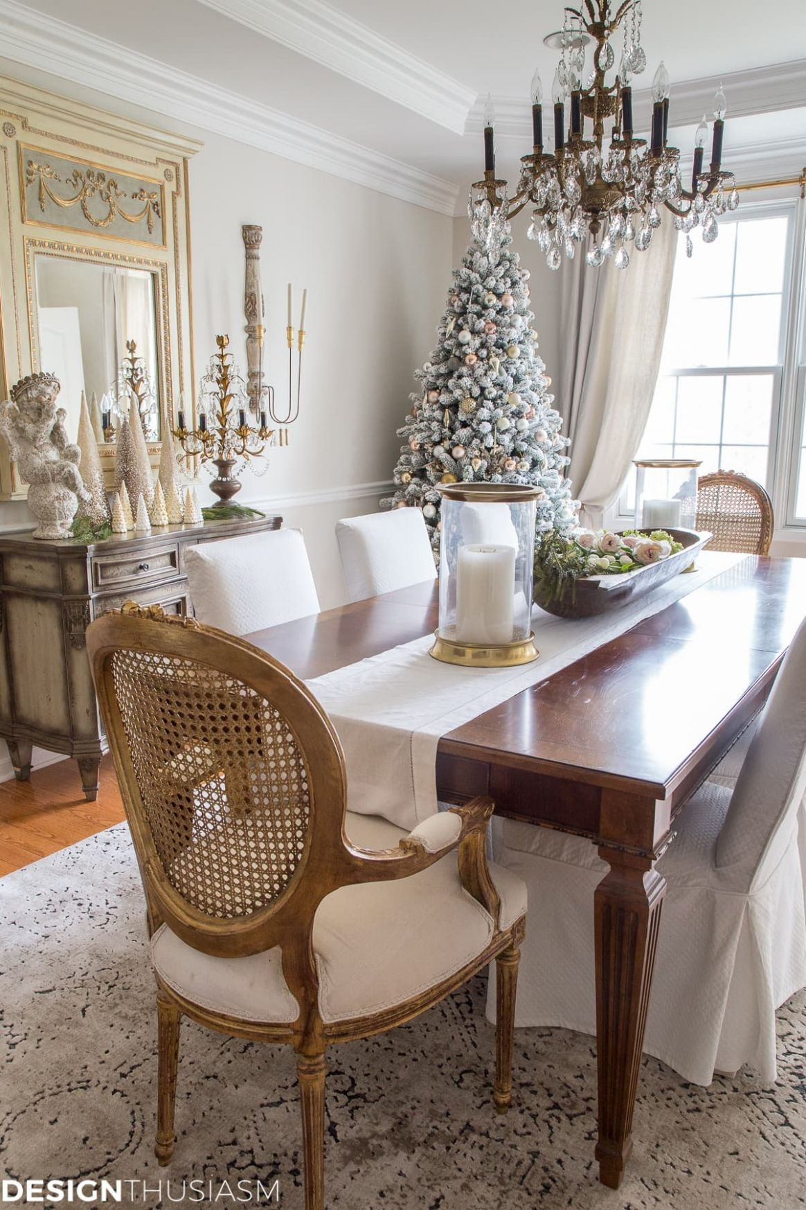 Elegant Holiday Decorating Ideas Dining Room – Saltandblues - dining room ideas country style