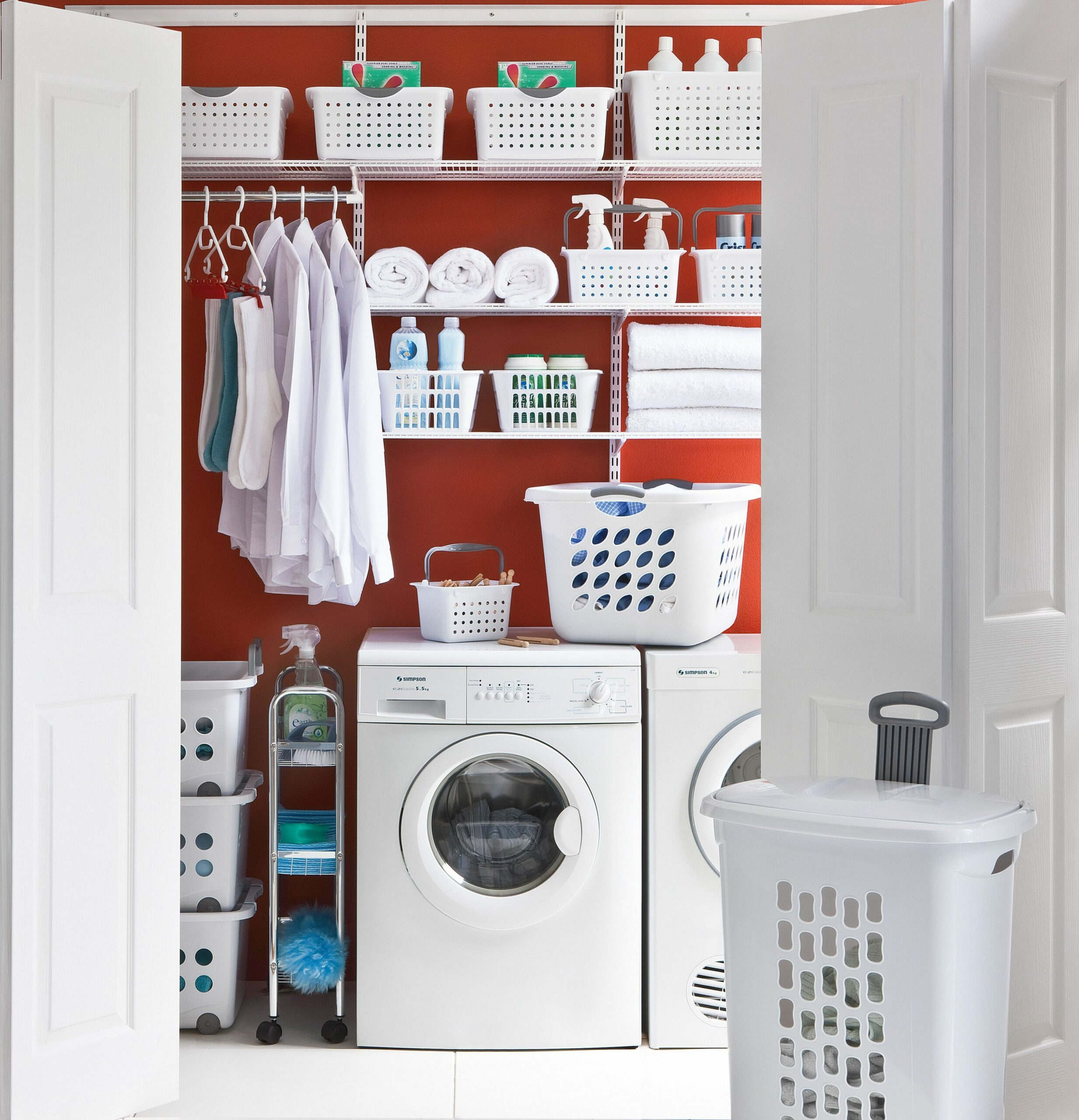 elfa® Laundry, specially designed components for the laundry to ...