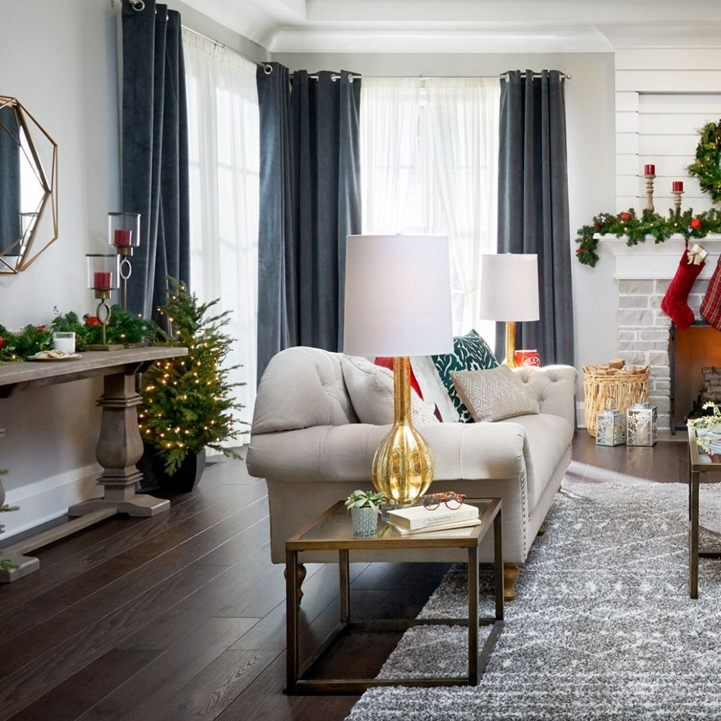 Everything in this living room is from The Home Depot. From the ..