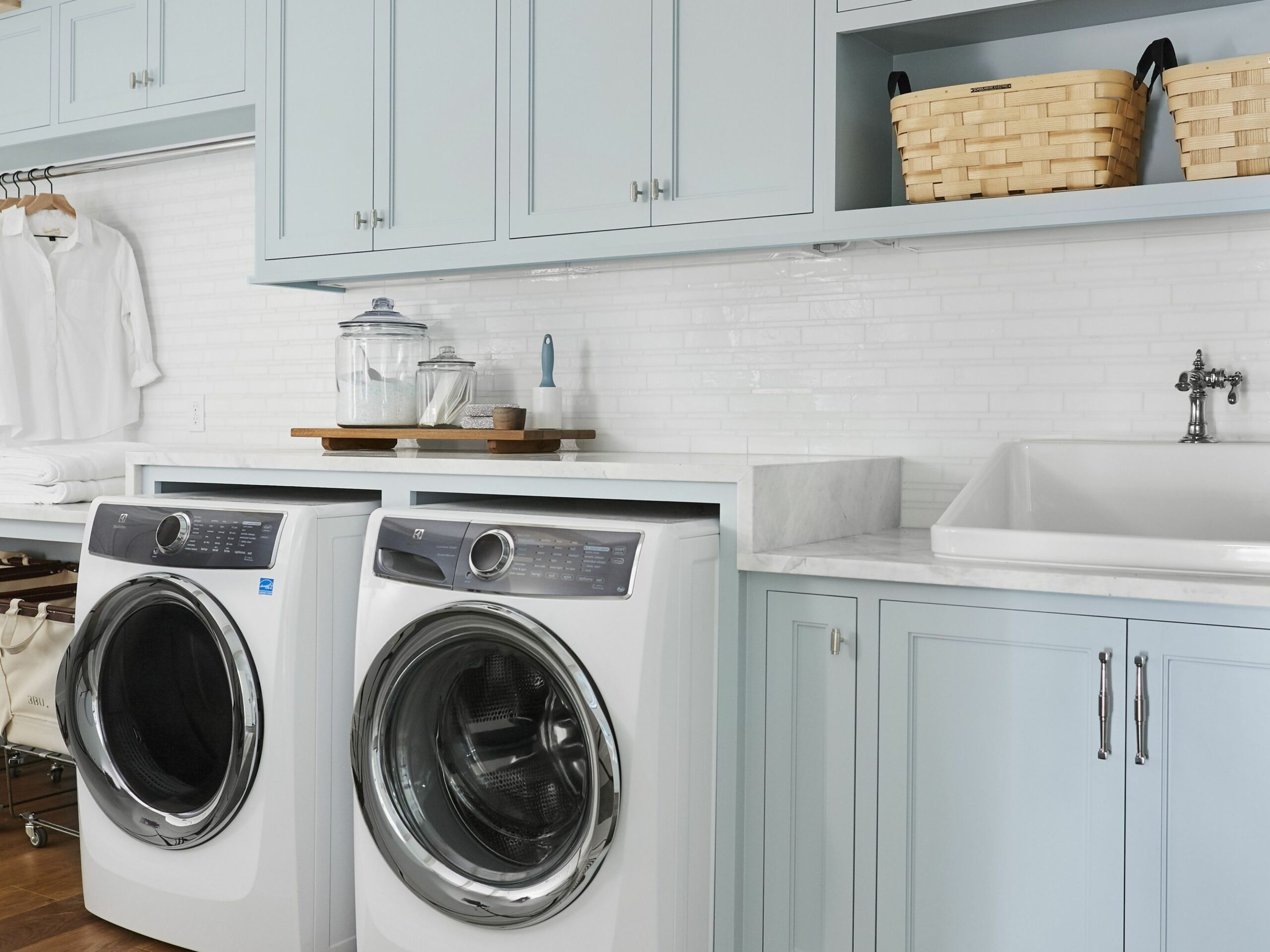 Everything You Need For an Expertly Organized Laundry Room - laundry room bin ideas