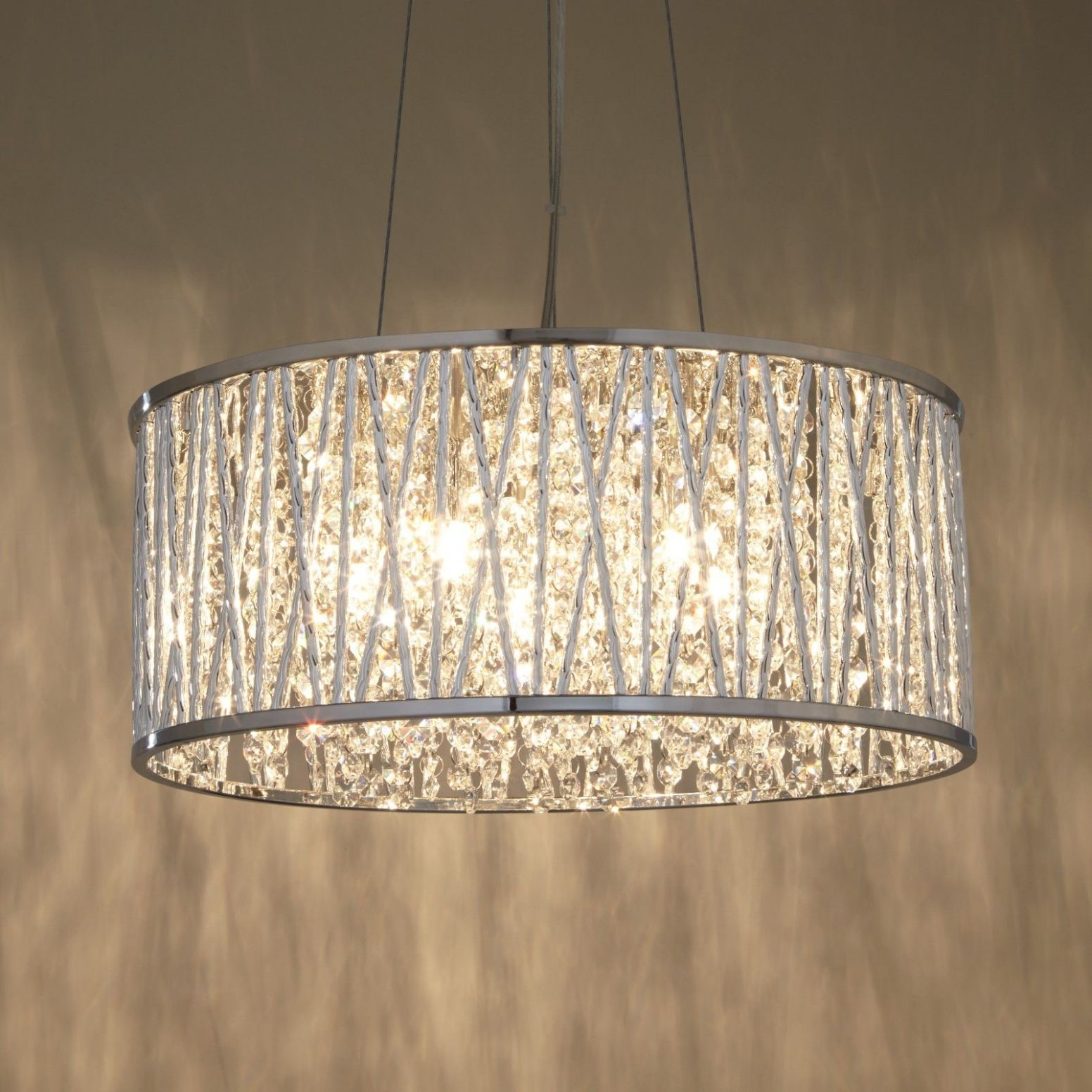 Exclusive Photo of Large Drum Chandelier   Crystal pendant ..