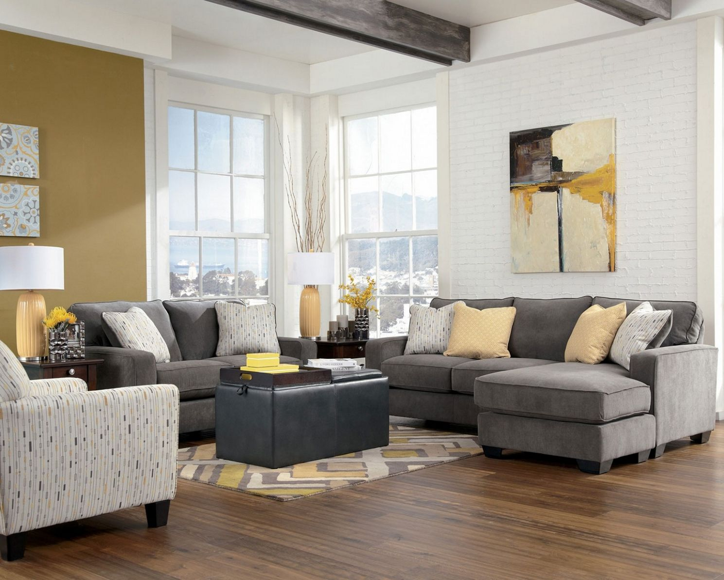 Exquisite Design Dark Gray Couch Living Room Ways To Decorate Grey ...