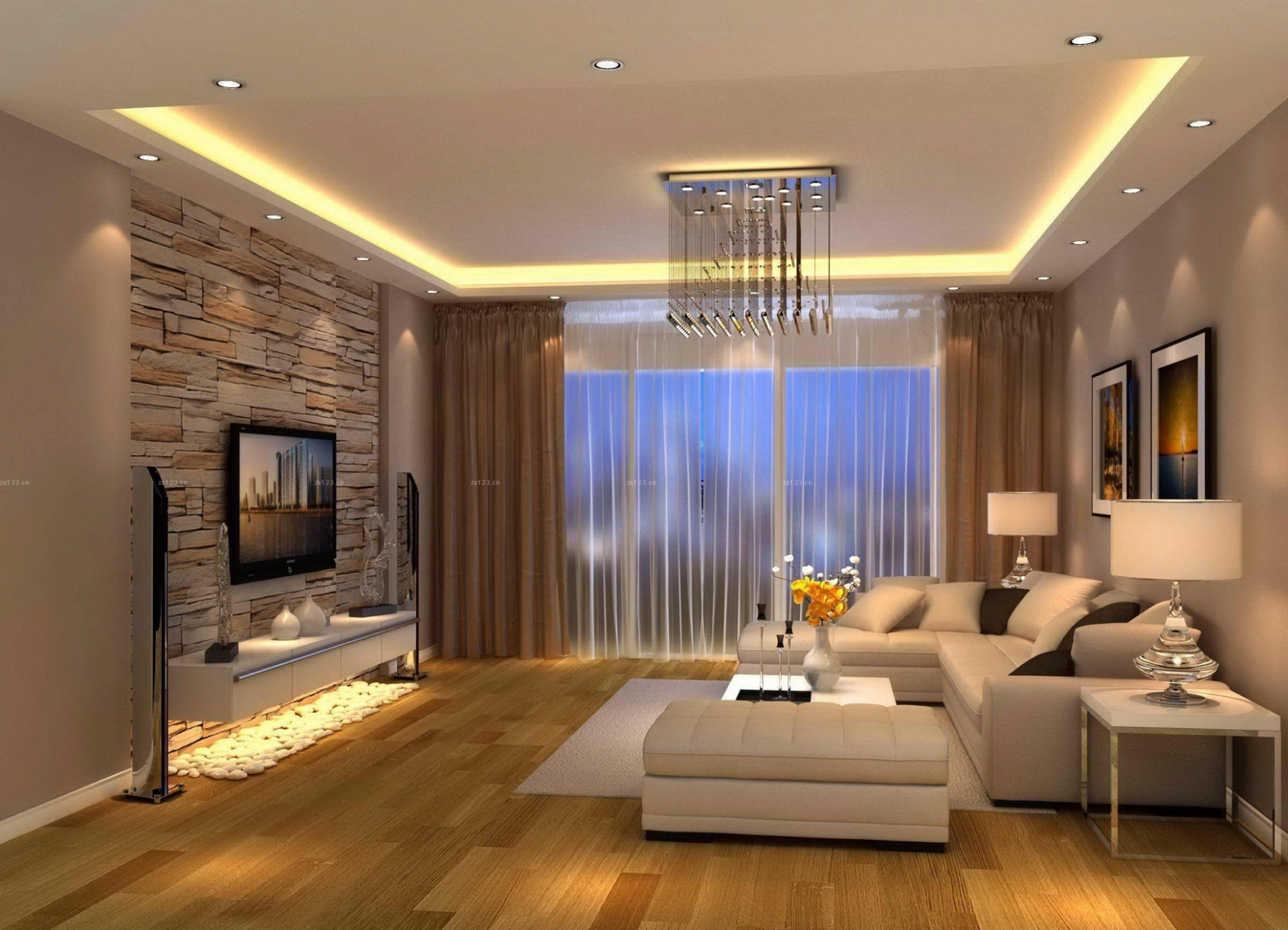 Exquisite Modern Living Design Ideas Of Beautiful Room Tv Wall ..