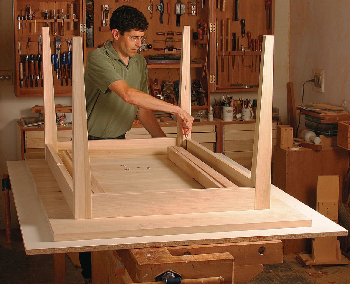 Extension Dining Table - FineWoodworking - dining room table extension ideas