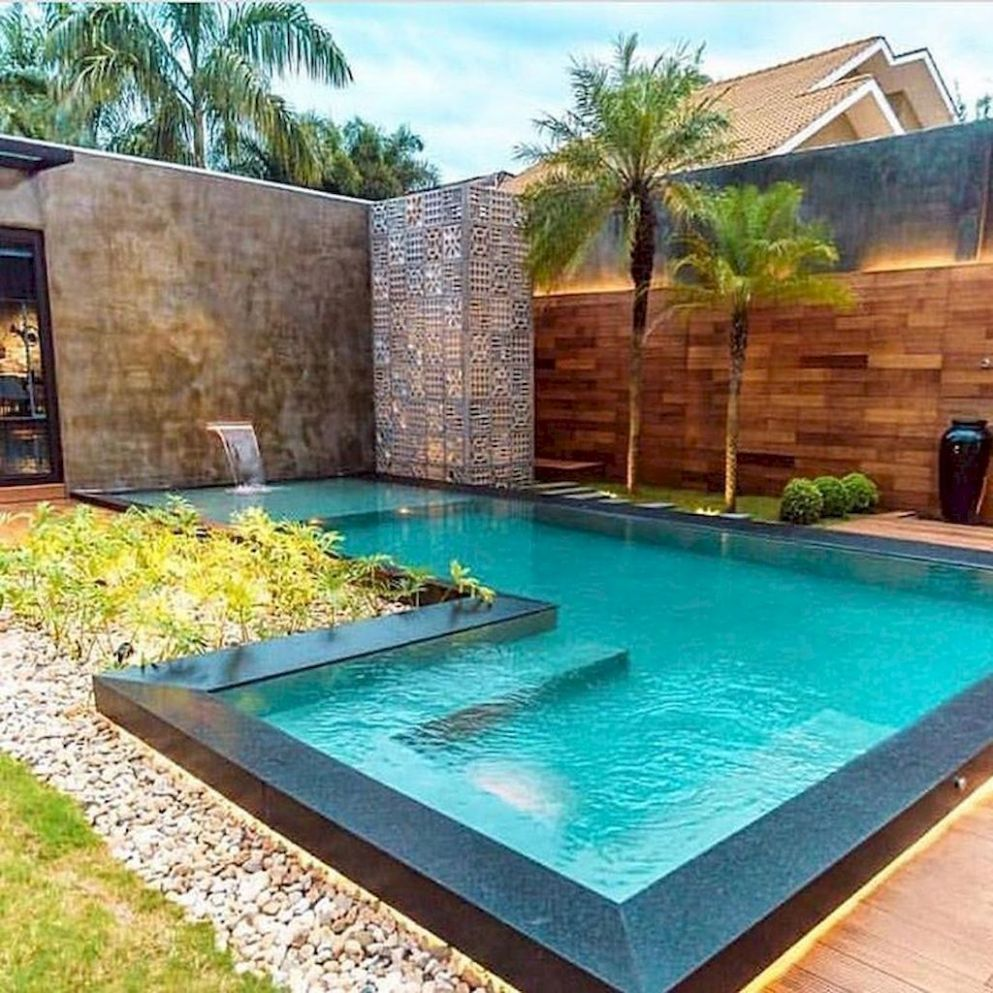 Exteriors : Likable Small With Pool And Deck Ideas Australia ...