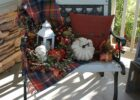 Fall bench | Herbst veranda dekorationen, Herbst dekoration ...