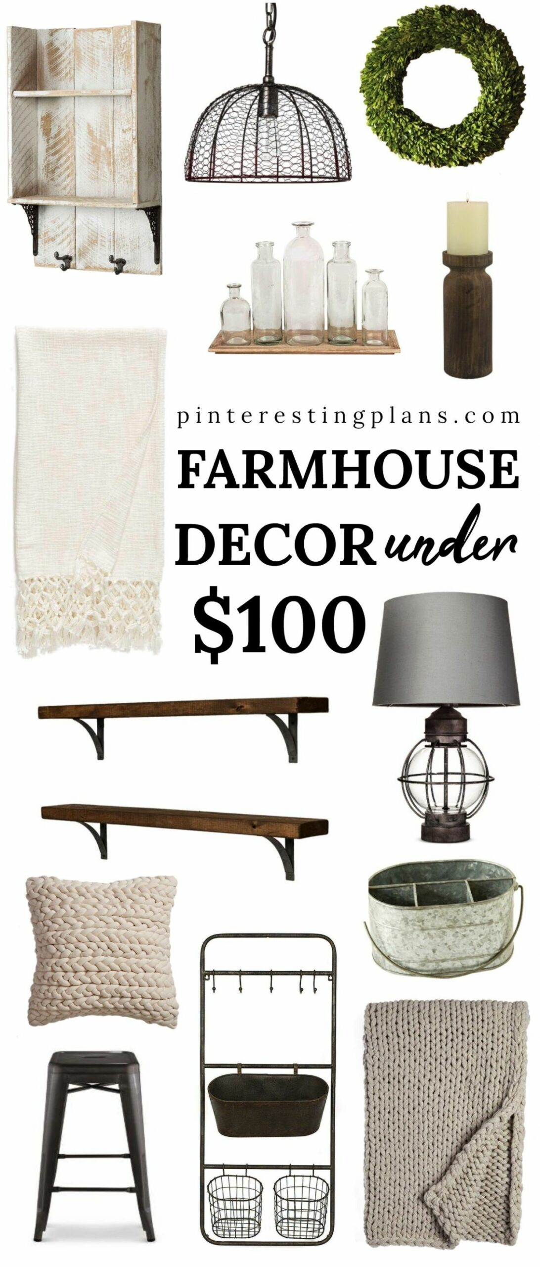 Farmhouse Chic Home Decor Pieces under $12 | New England Style - home decor under 100