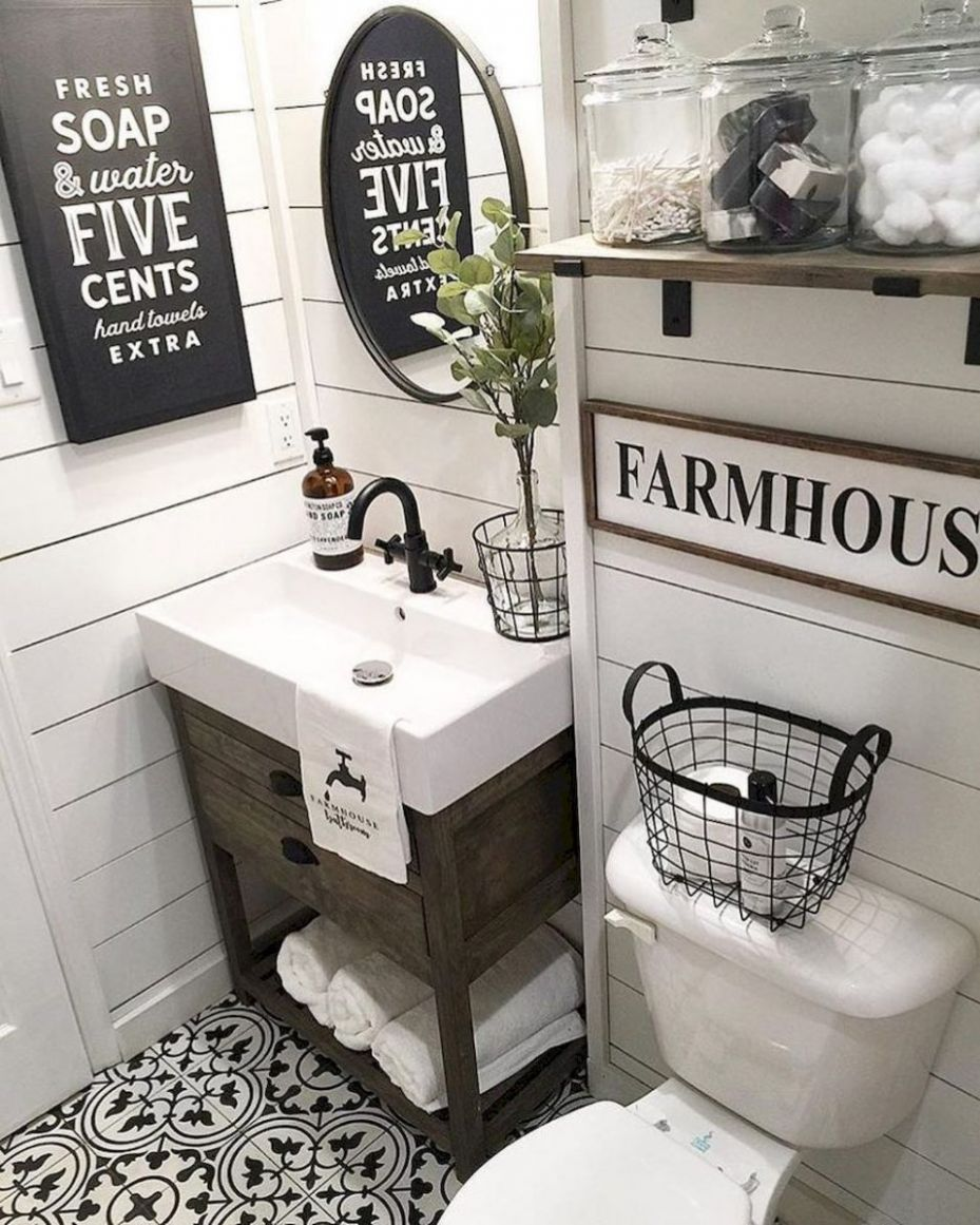 Farmhouse Decor For Small Bathrooms Excelent Best Bathroom Ideas ..