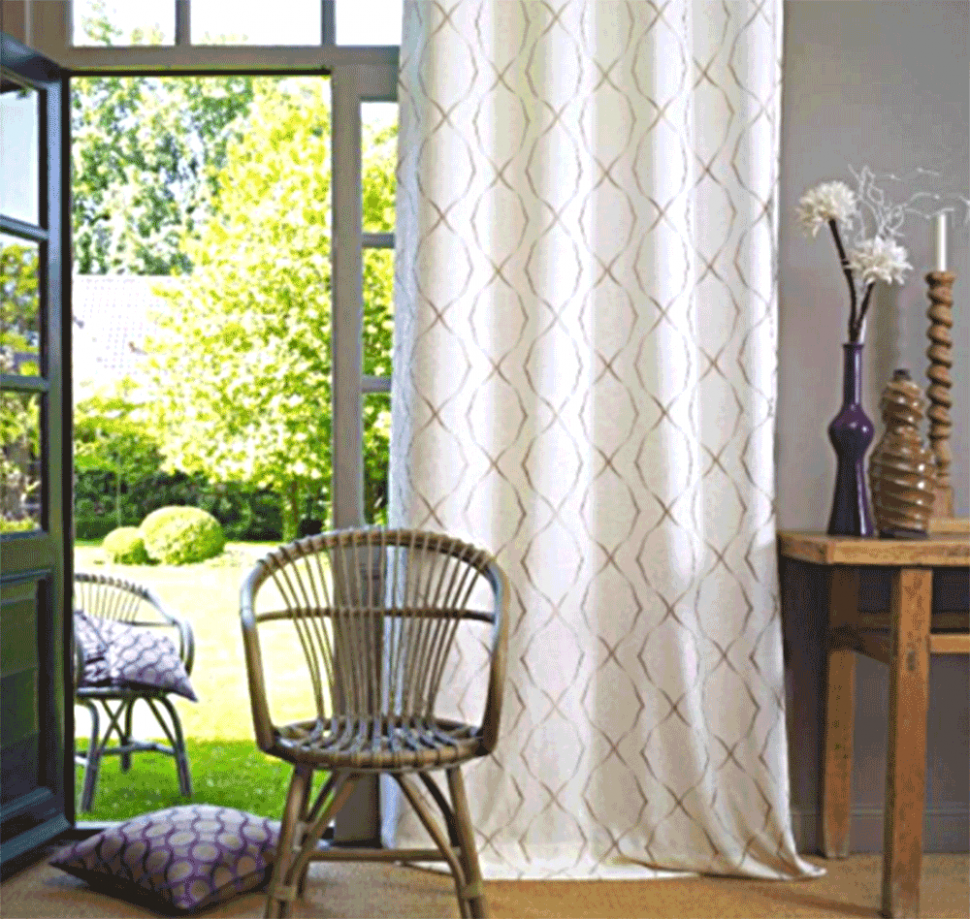 Fashionable curtain ideas For Balcony and Loggia in a modern style ...