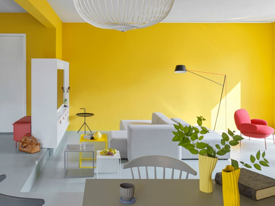 Fearless Yellow And White Home Decor With Terrazzo Touches - home decor yellow