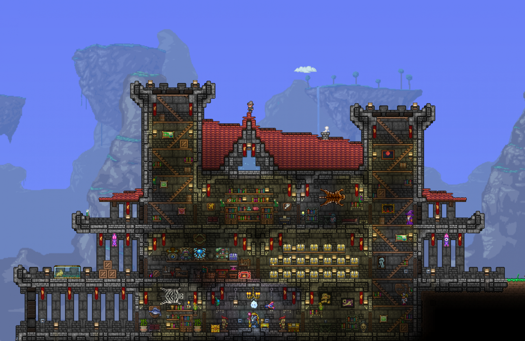 Finally finished my Castle! I took a lot of inspiration from other ..