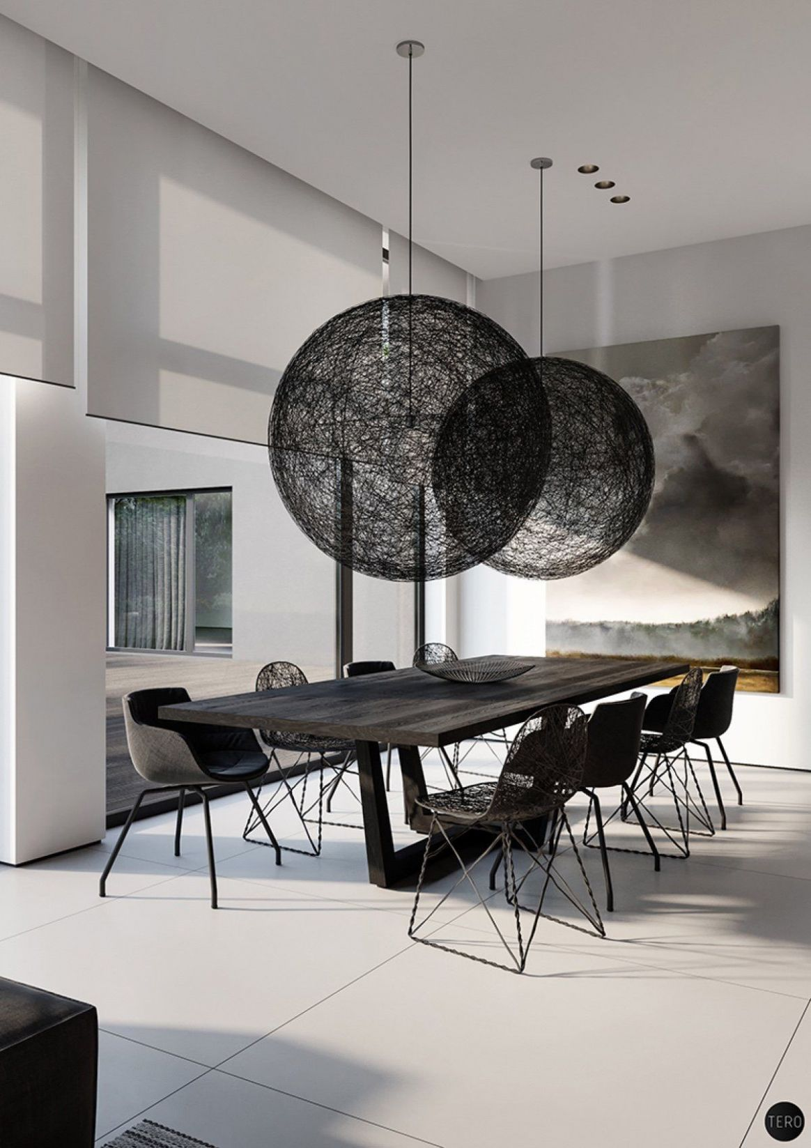 Find Modern and Minimalist Dining Room Designs With Enticing Decor ..