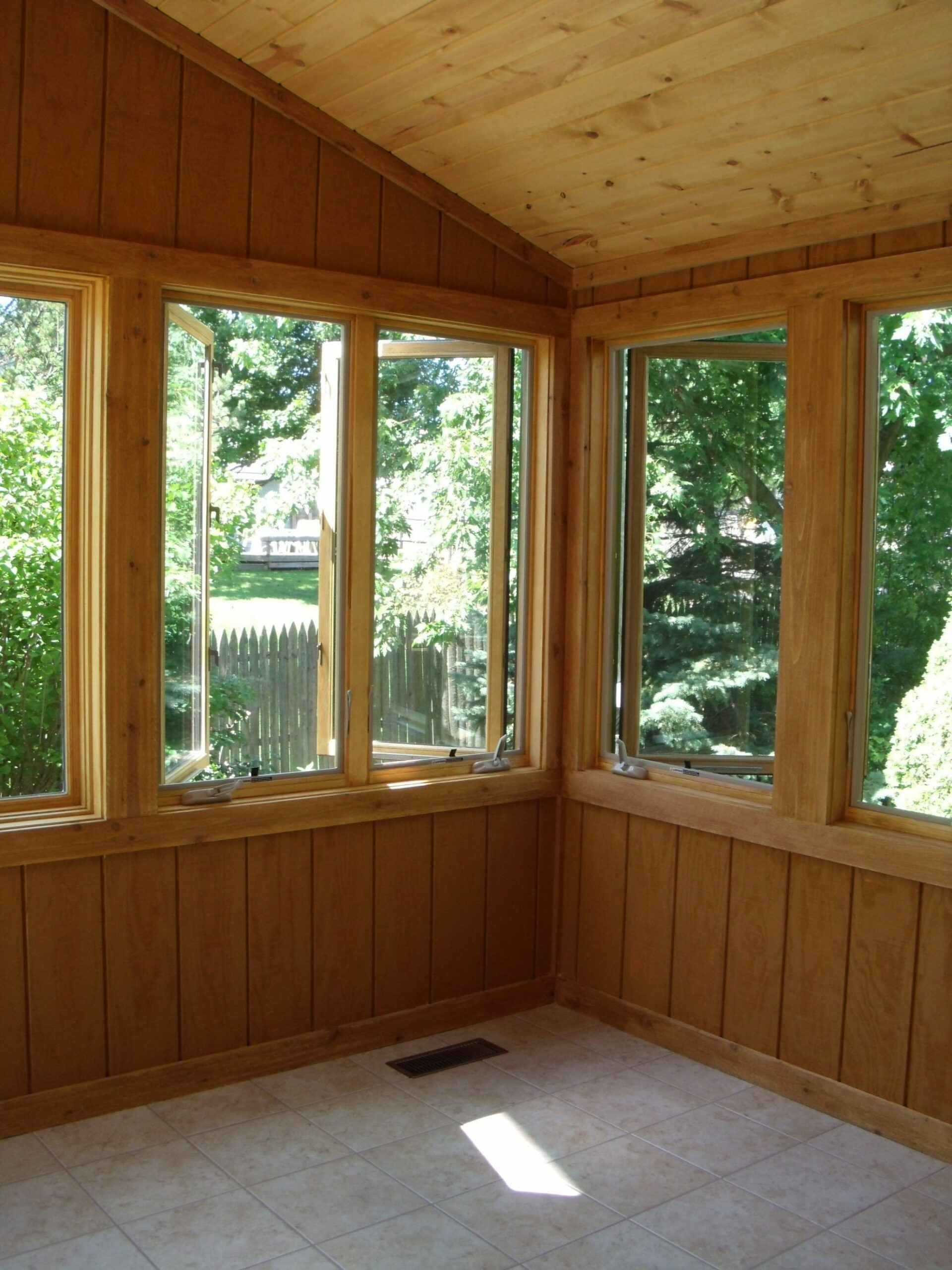 Finished conversion from screened porch to sunroom