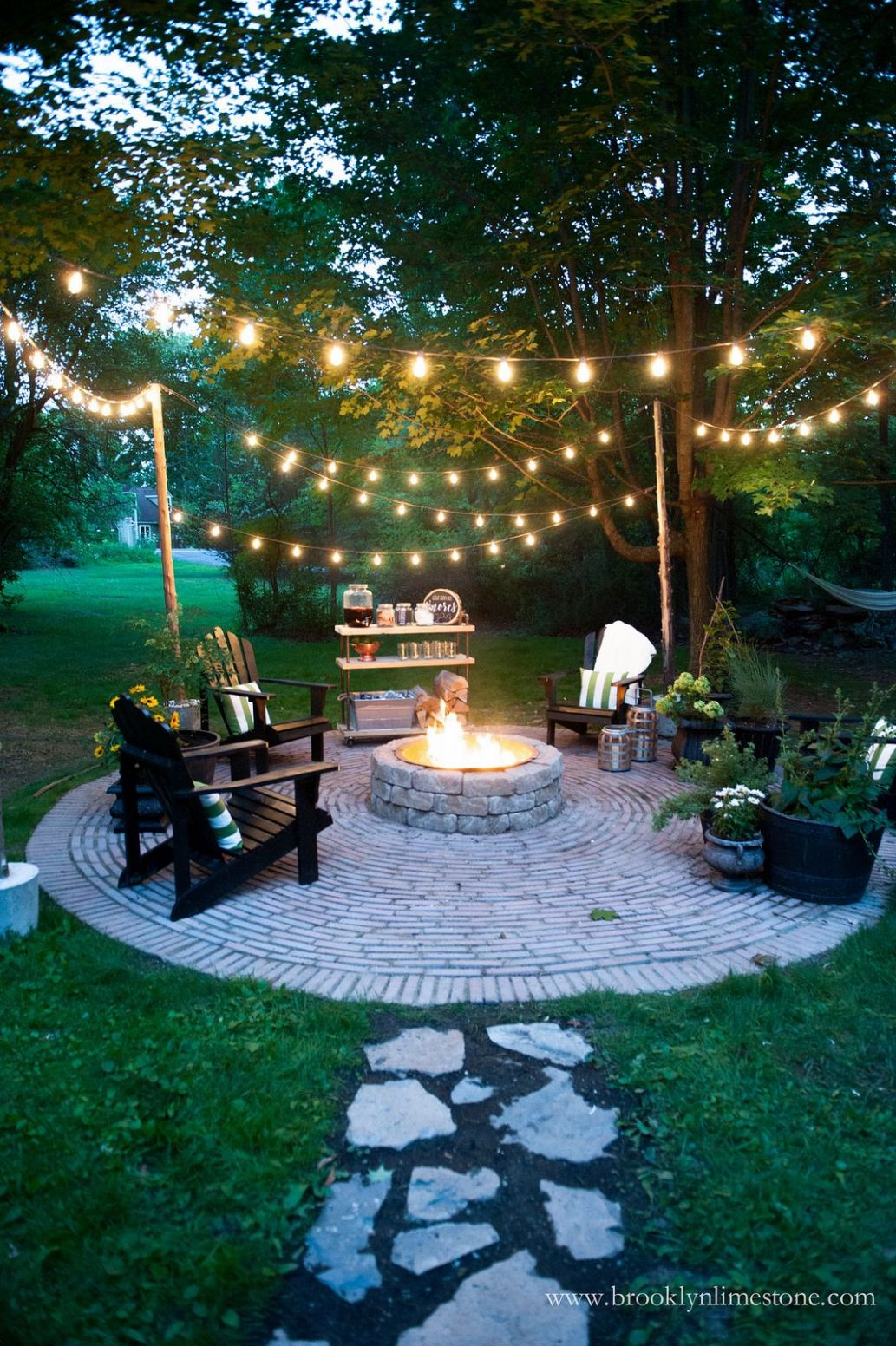 Firepit Patio - Country Cottage DIY Circular Outdoor Entertaining ...