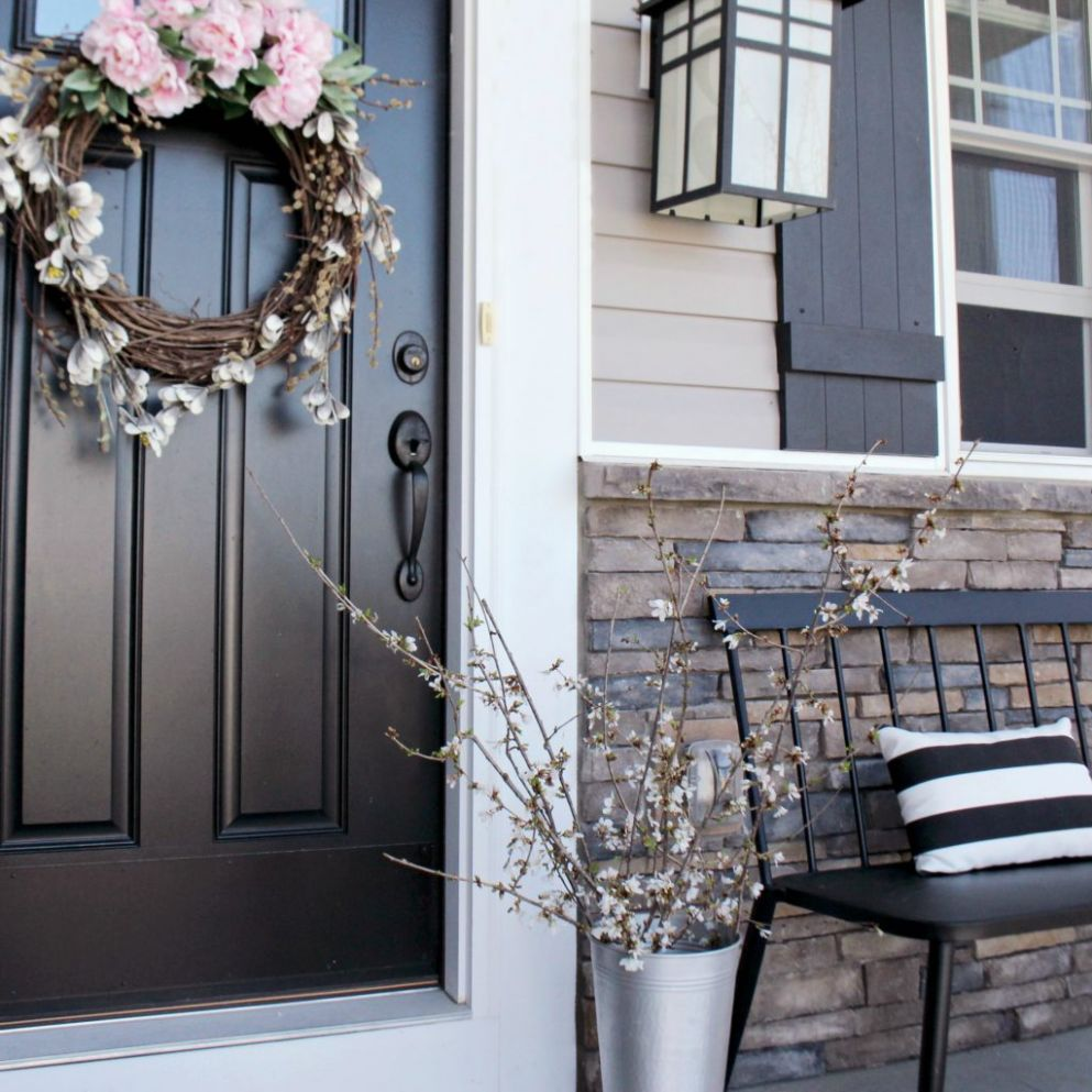 Flowering Spring Branches + The Perfect Front Porch Bench - Zoe ..