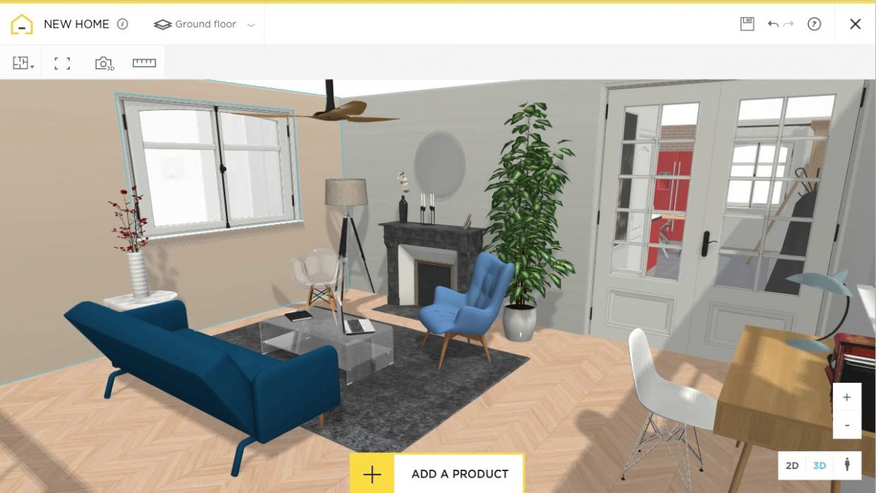 Free and online 12D home design planner - HomeByMe - apartment design app free