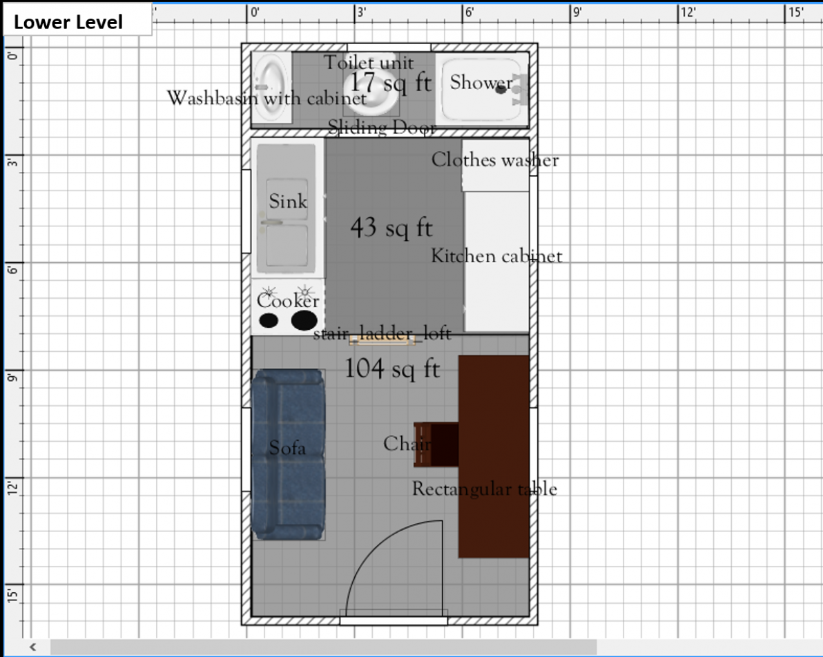 Free Tiny House Floor Plans: 10' x 10' Floor Plan with Possible ...