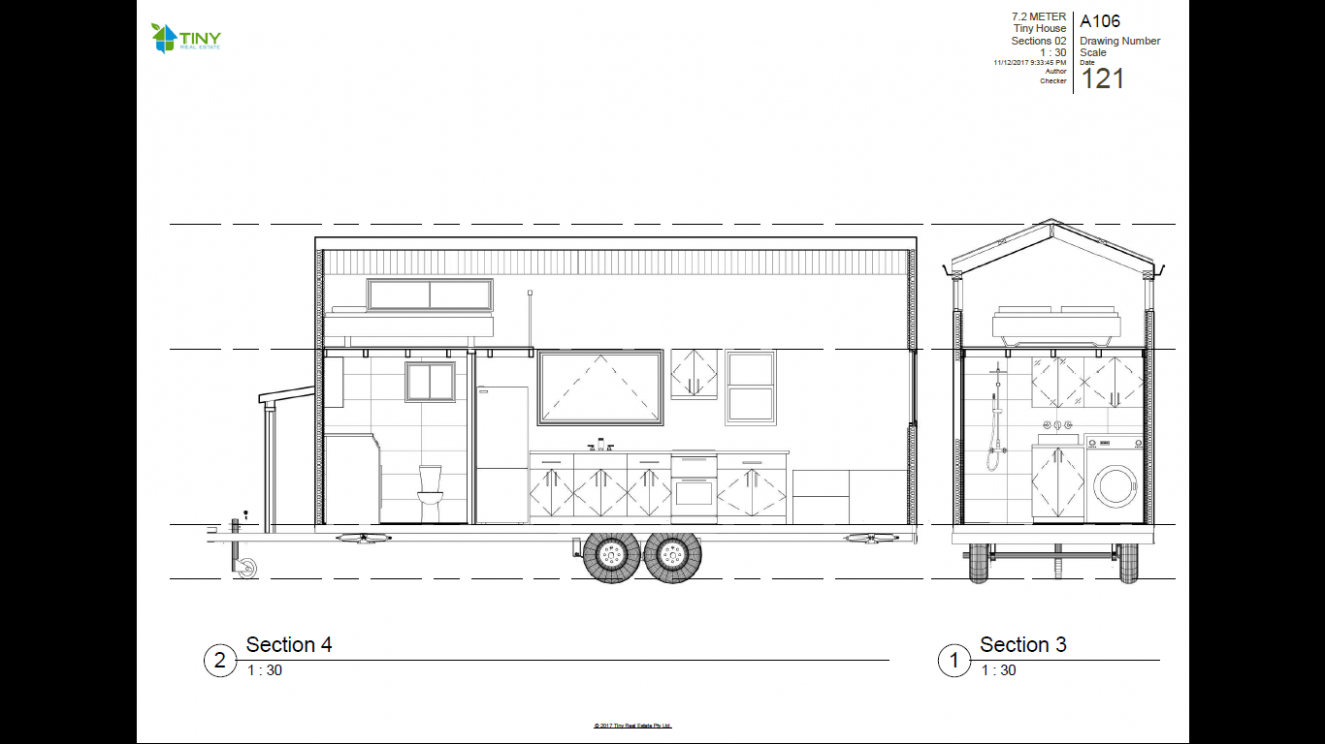 FREEDOM - 112.12 Metre (112ft) Tiny House Plans