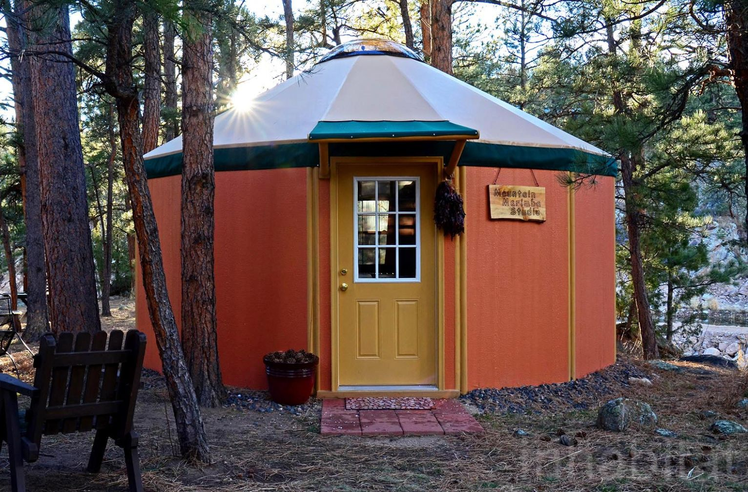 Freedom yurt cabins: a tiny home for people who love round houses