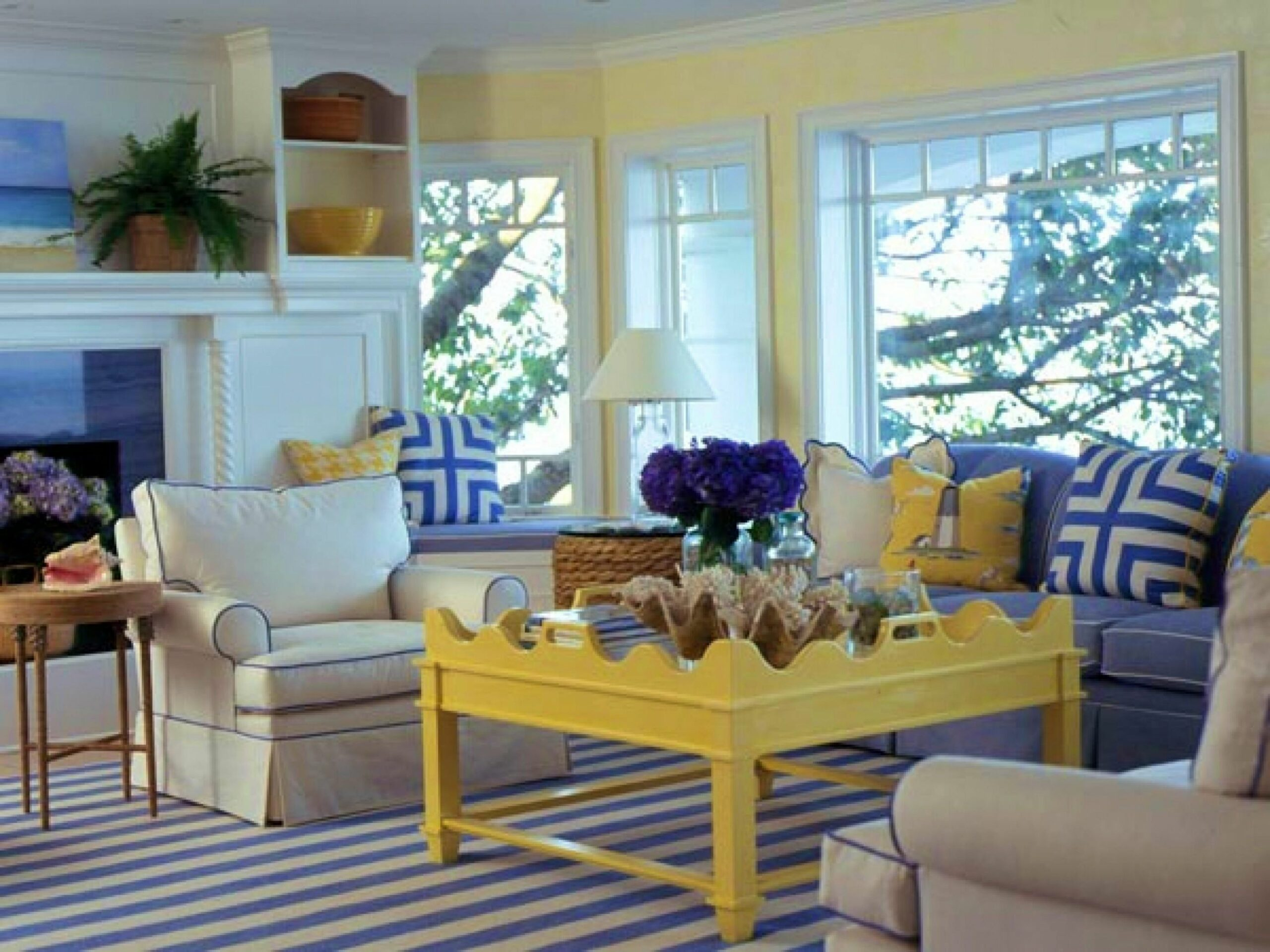 Fresh Blue Yellow Living Room Ideas Cool Home Design ..