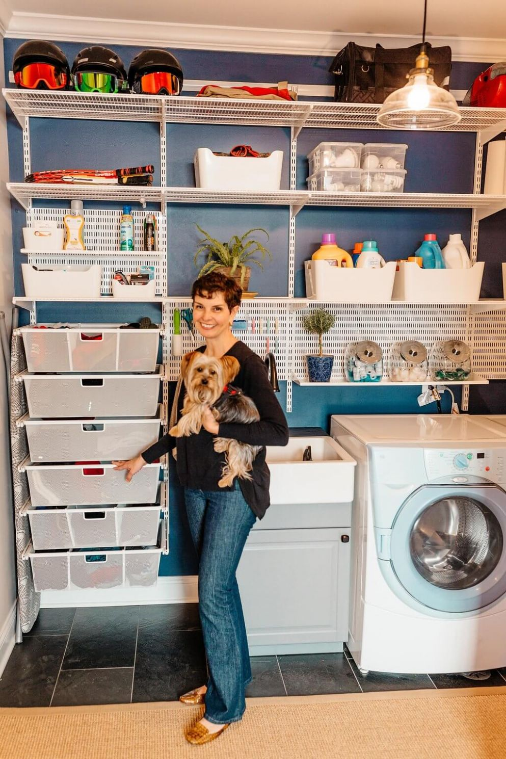 From Complete Disaster To Awesome Laundry Room - elfa laundry room ideas