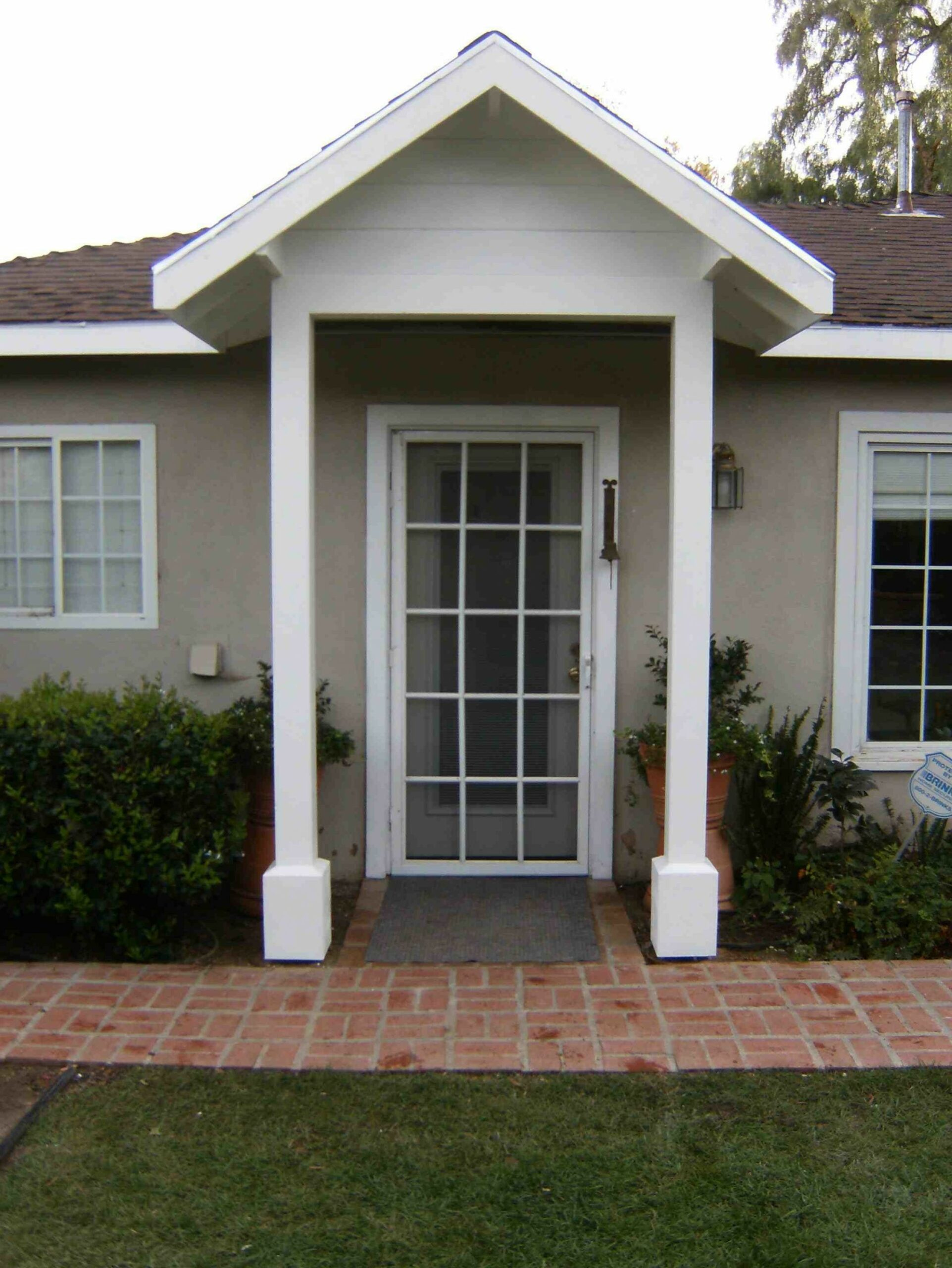 Front Porch Without Overhang