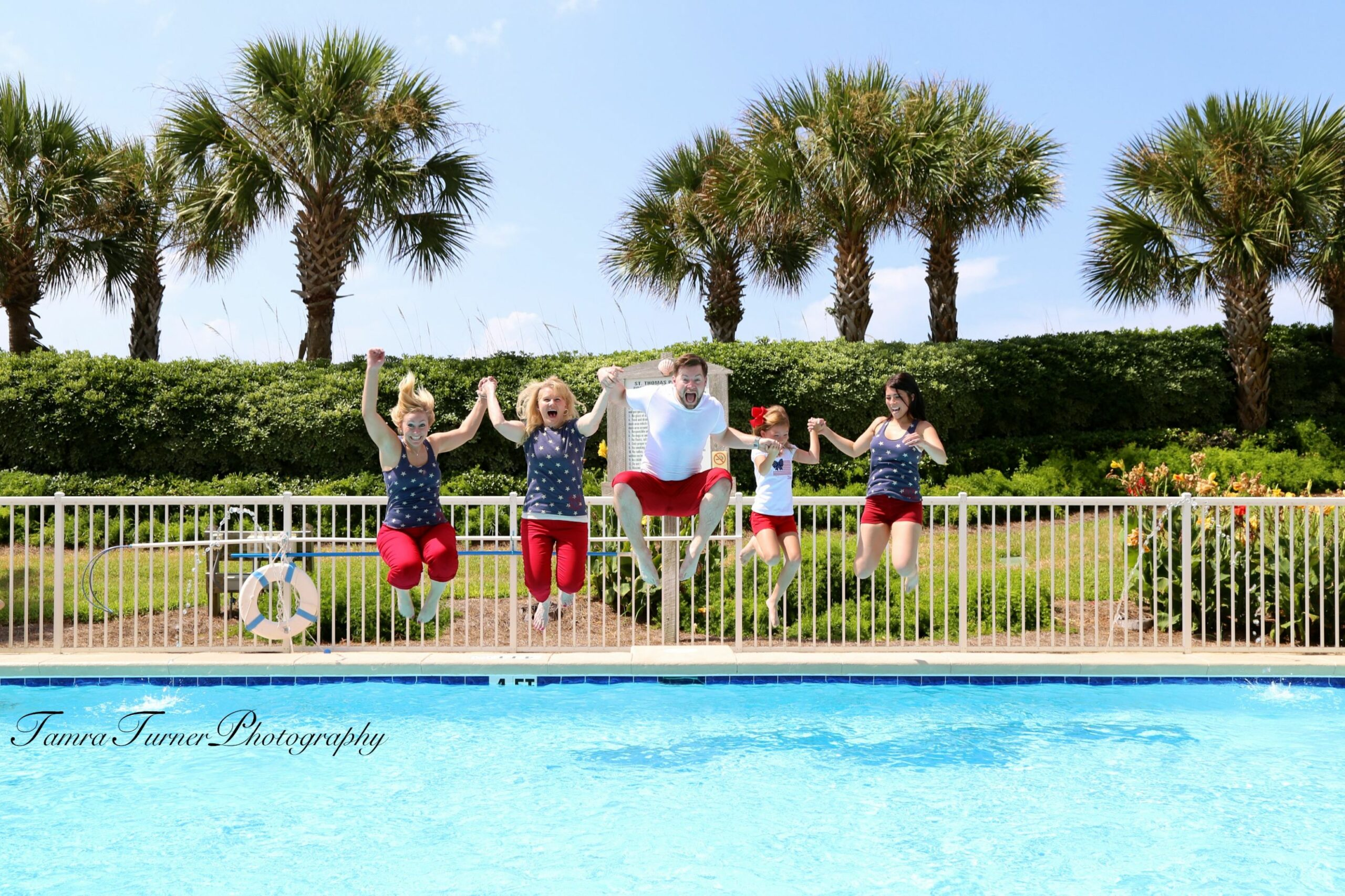 Fun summer family photo session, jump in the pool, be brave, have ..