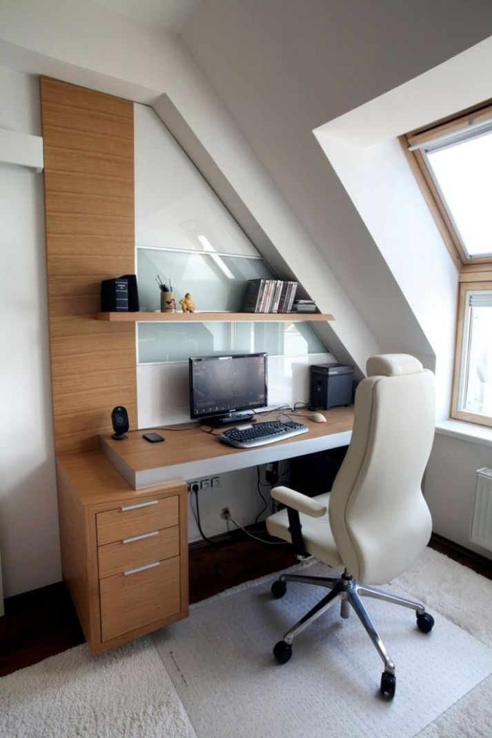 Functional Attic Office Designs | Attic office, Office cubicle ..