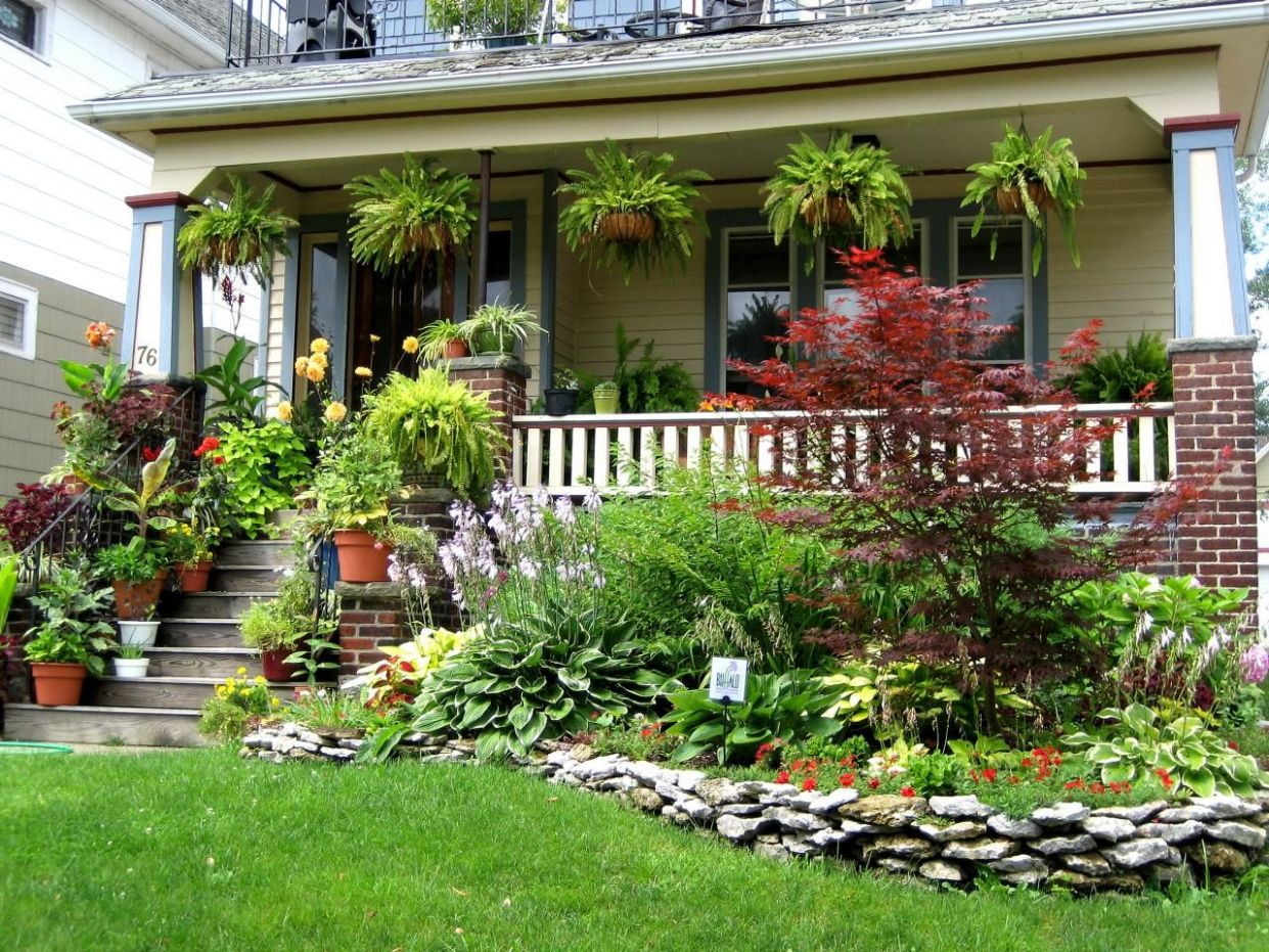 Gardens We Love From Rate My Space | Front porch garden, Front ..