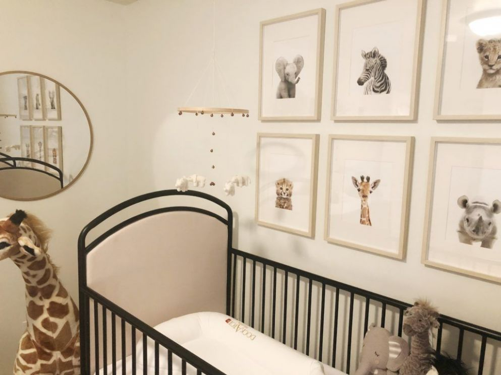 Gender Neutral Safari Nursery | Safari nursery, Baby nursery ...