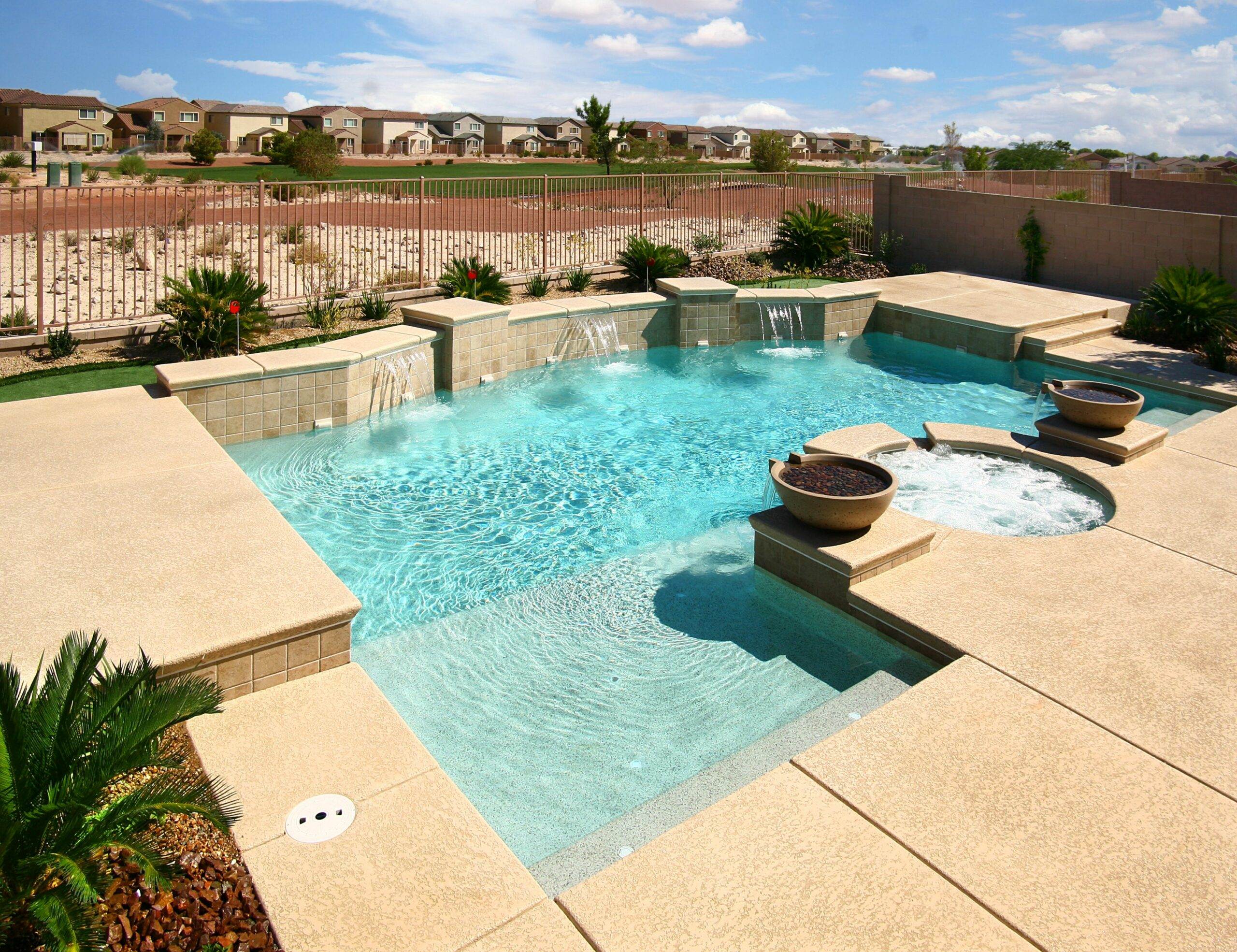 Geometric Pools For Homes Hotels And Resorts Desert Springs Simple ..