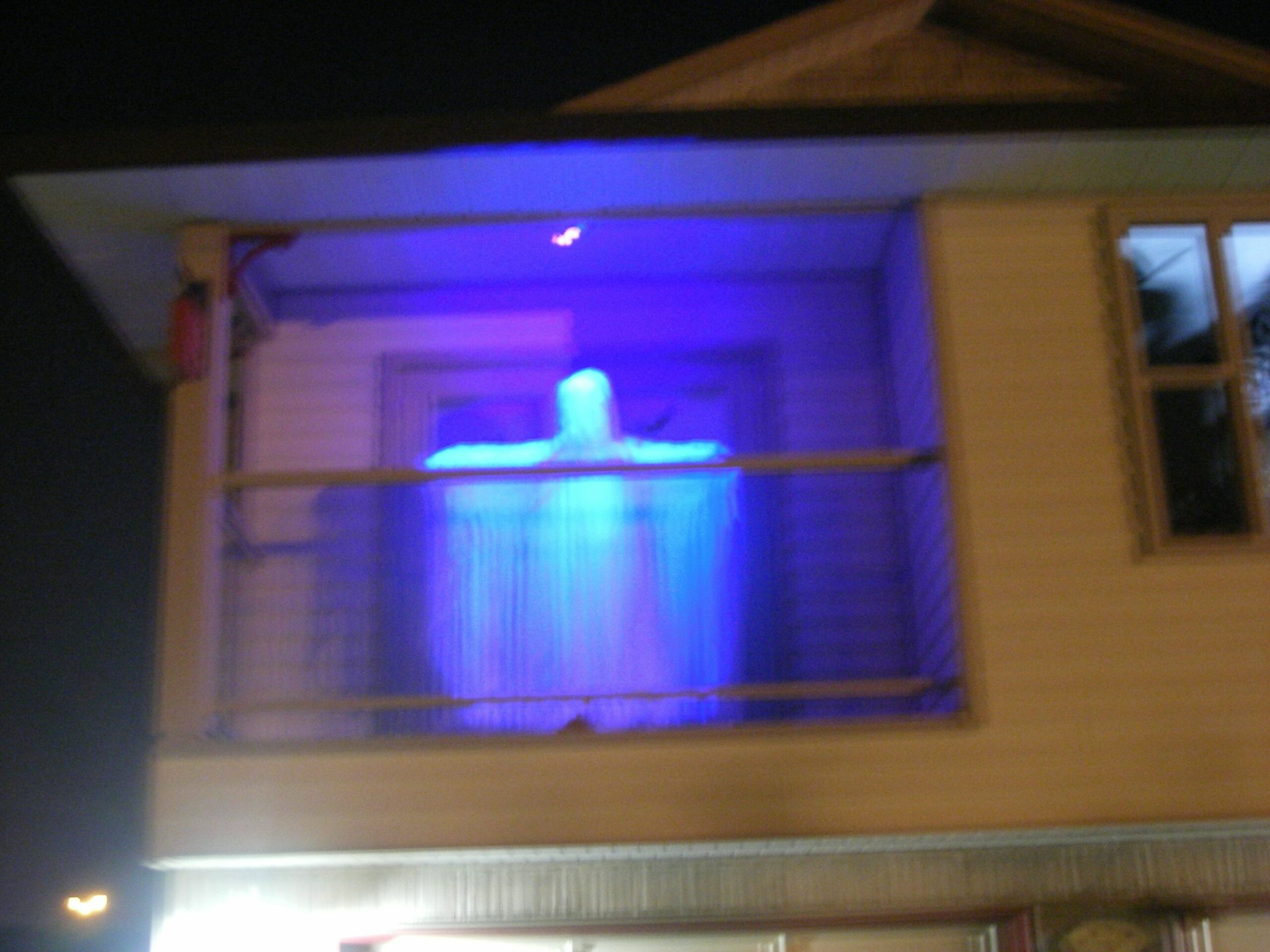 Ghost on the balcony. | Halloween decorations apartment, Fun ..