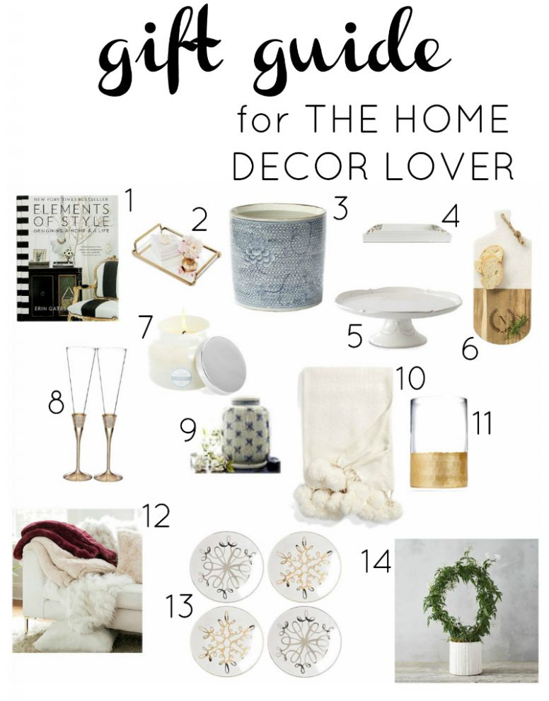 Gift Guide for the Home Decor Lover - Decor Gold Designs - home decor gifts