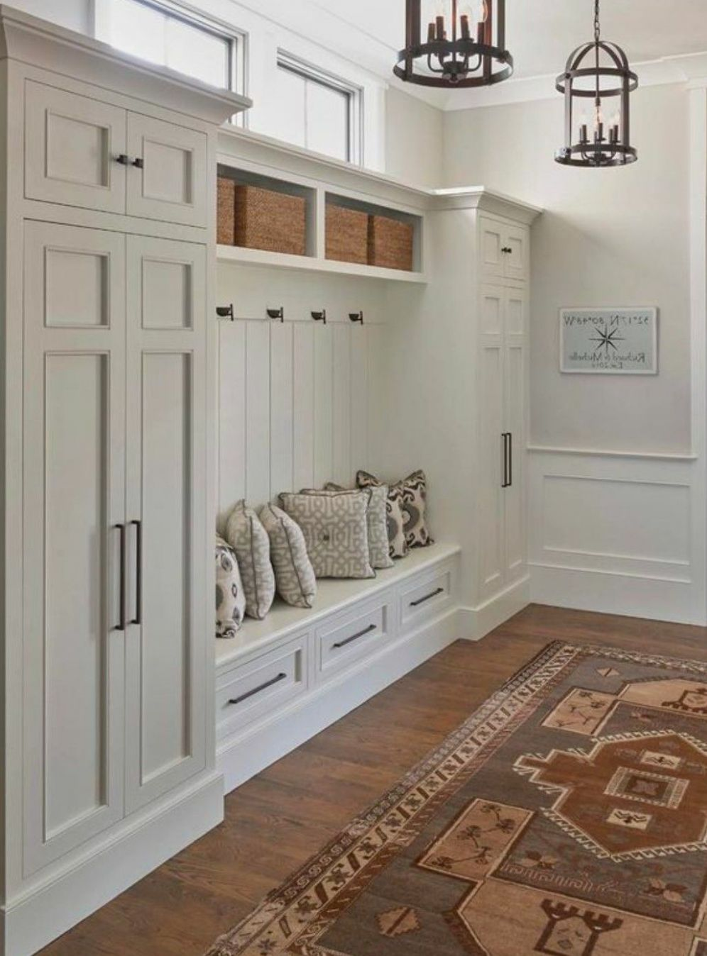 Great idea for entrance of home...coats for guests go in one ..