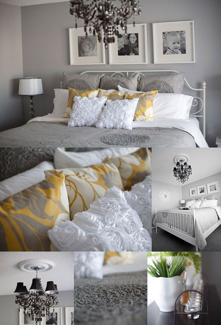 Grey & white bedroom - love this! (With images) | Grey home decor ...