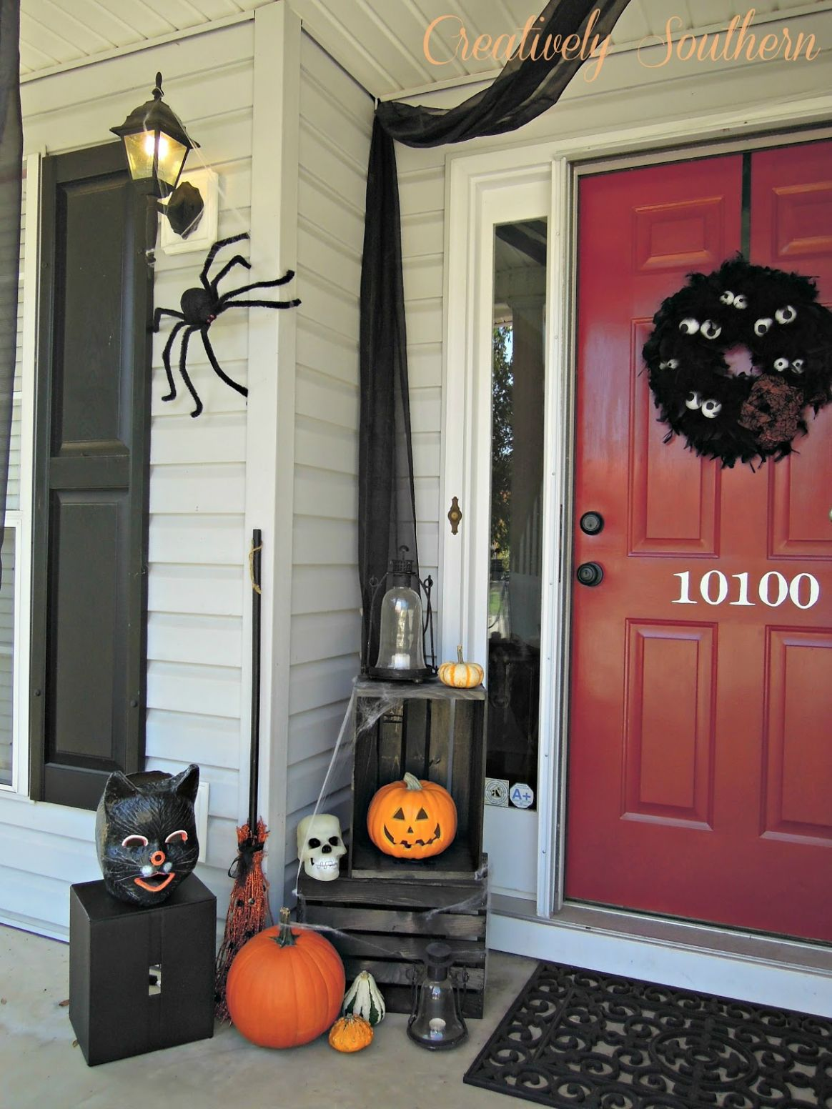 Halloween Porch Decorating - front porch decor halloween
