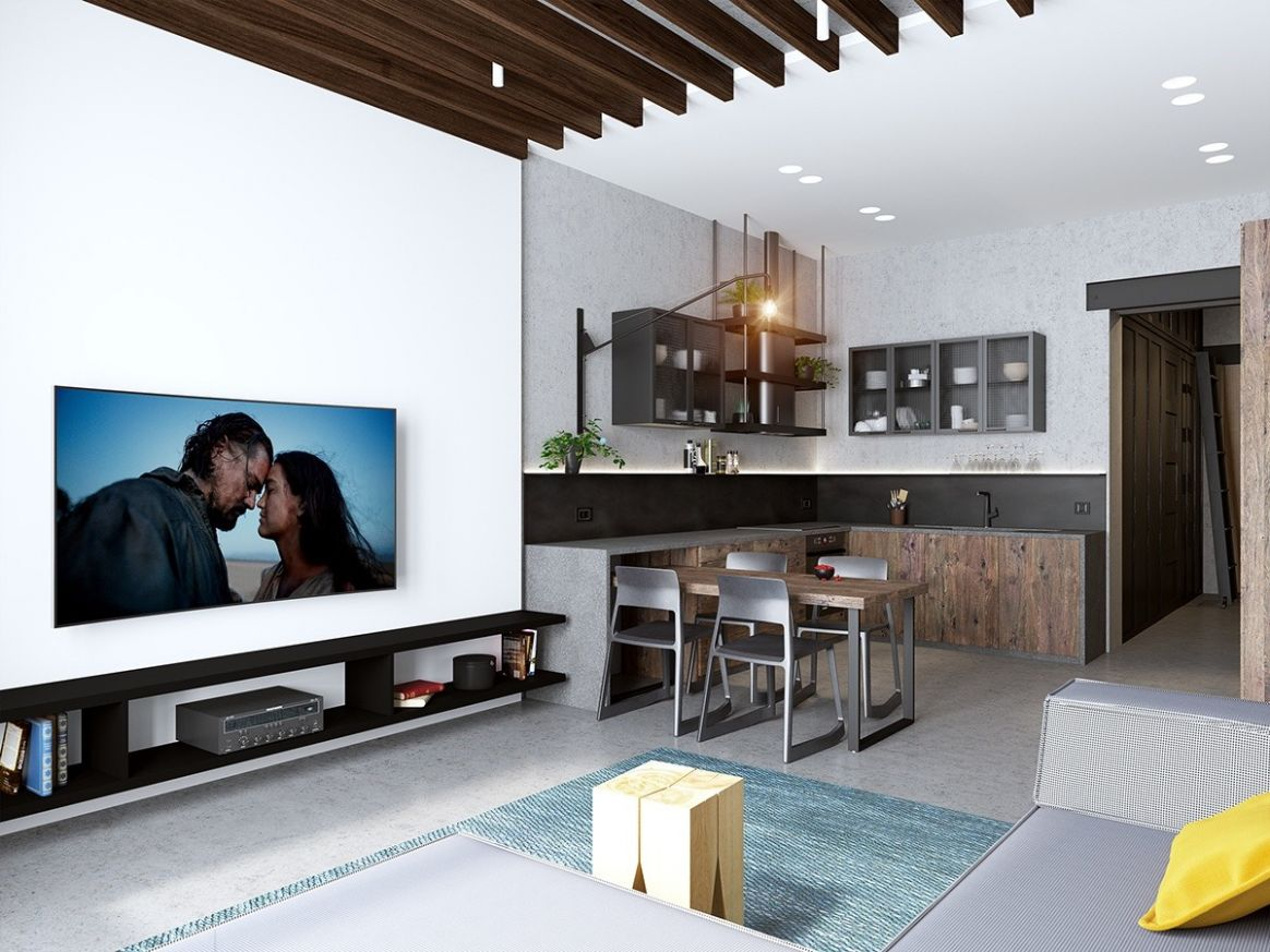 Handsome Small Apartments With Open Concept Layouts - apartment design ideas