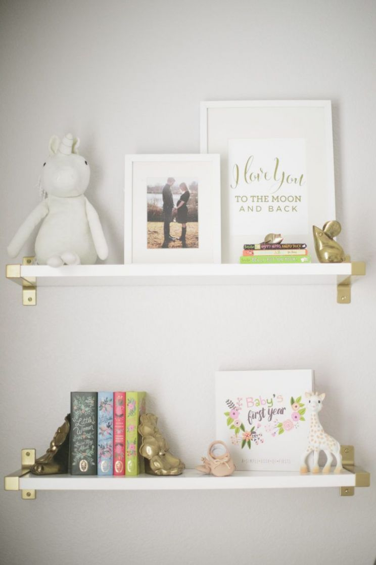 Harper's Floral Whimsy Nursery | Nursery shelves, Nursery wall ...