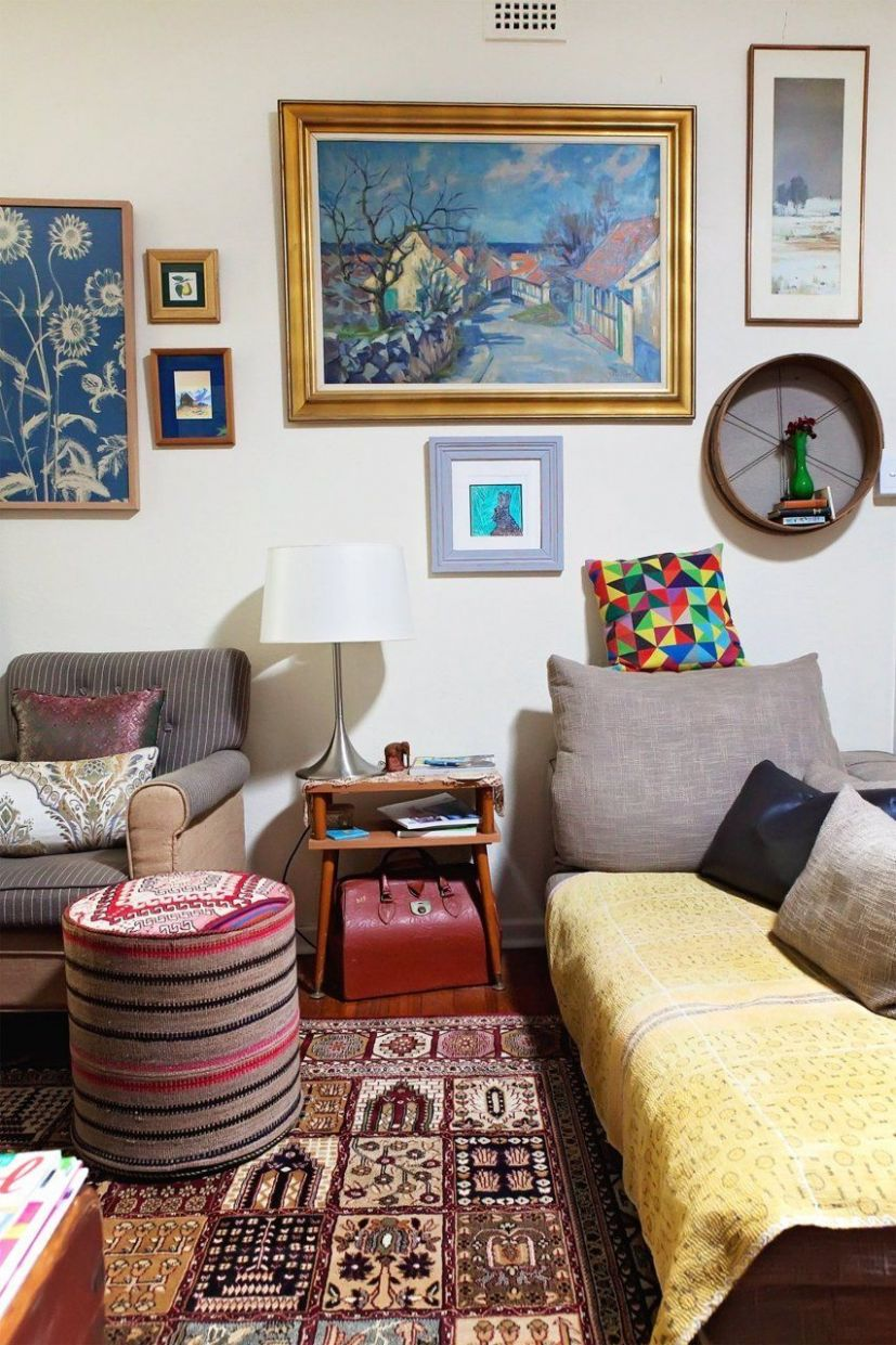 Helen's Eclectic Boho Haven | Living room inspiration, Cozy house ...