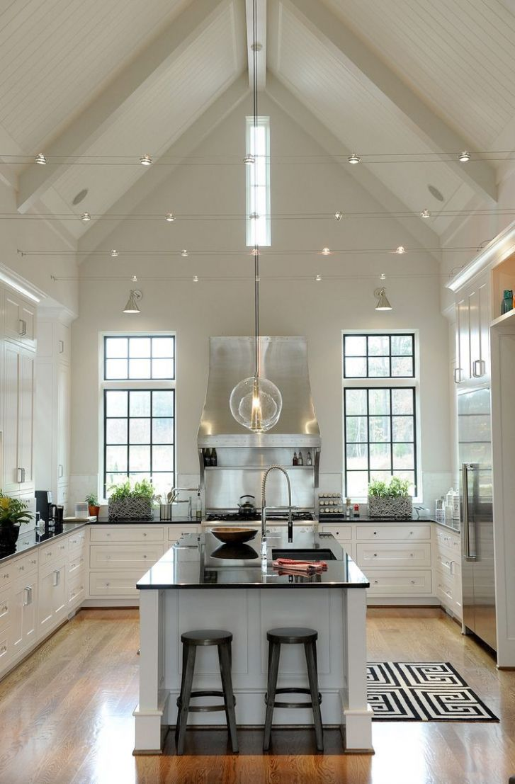 High ceiling   Kitchen inspirations, Sweet home, House interior