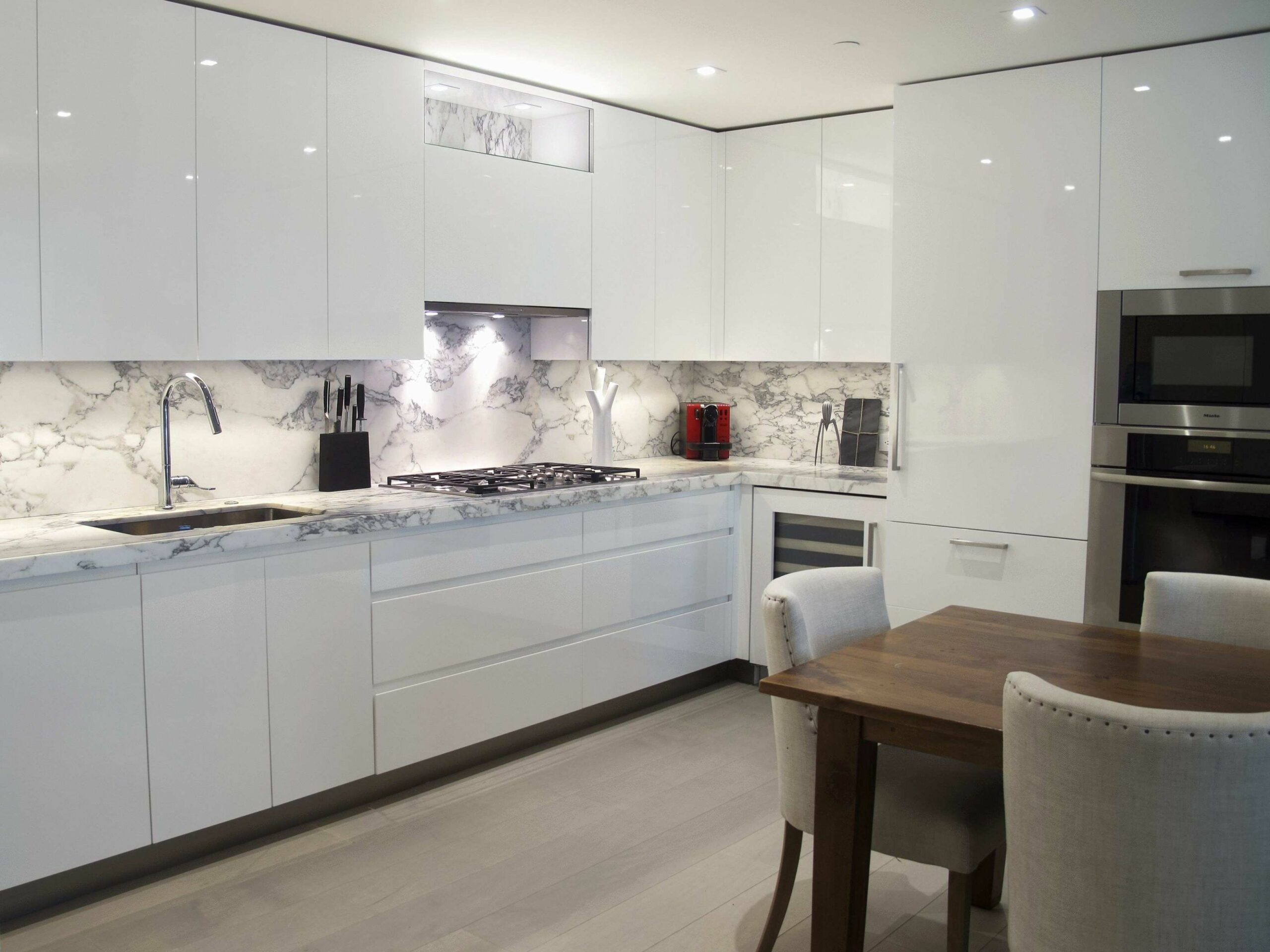 High Gloss White Kitchen Cabinets Luxury Custom Design Ideas With ..