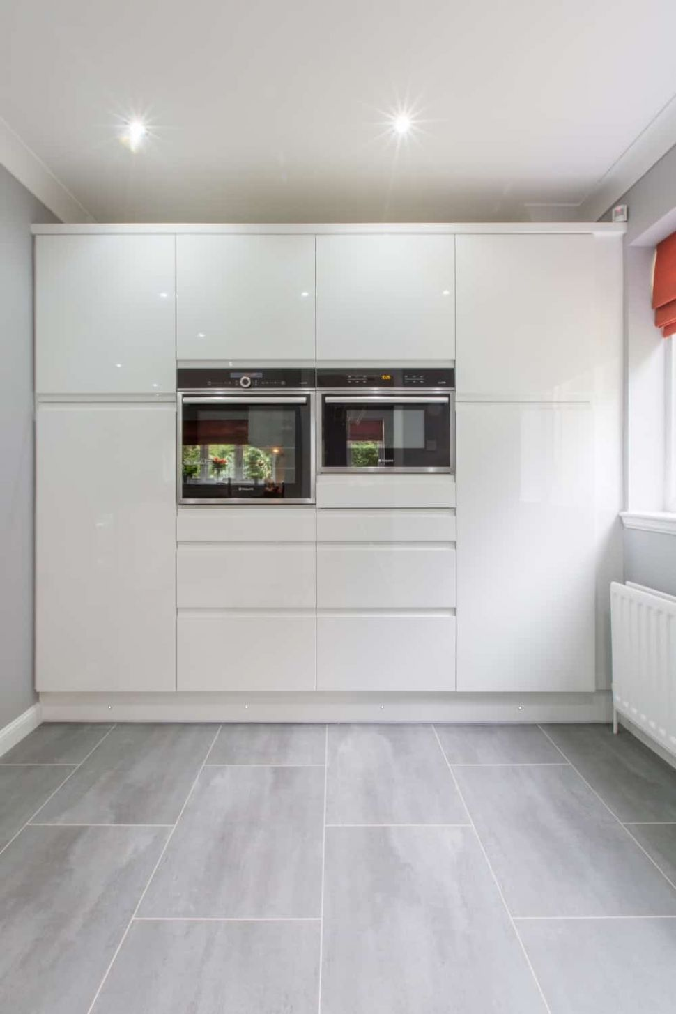 Home Architec Ideas: White And Grey Gloss Kitchen Ideas - kitchen ideas high gloss