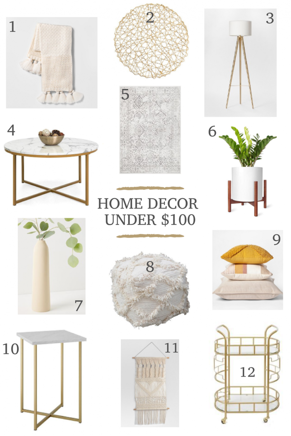 Home decor finds under $12 - home decor under 100