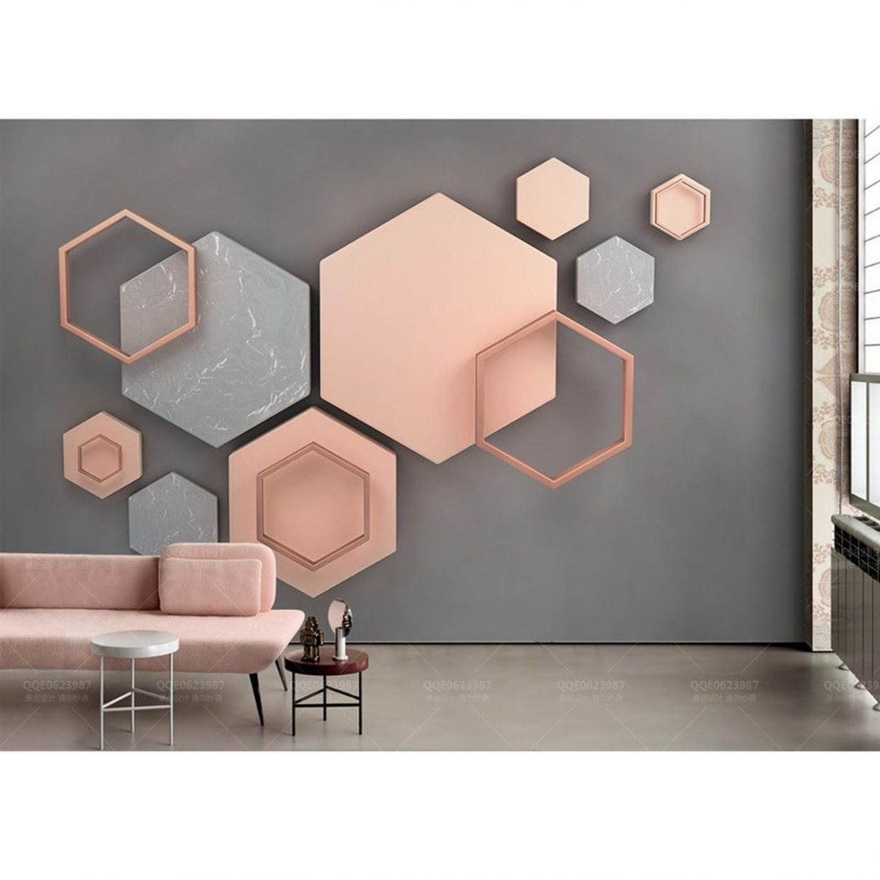 Home Decor Wall Papers Stickers Modern 12D Geometric Photo Wallpaper Mural  Living Room Bedroom Self Adhesive Vinyl/Silk Wallpaper - home decor wallpaper
