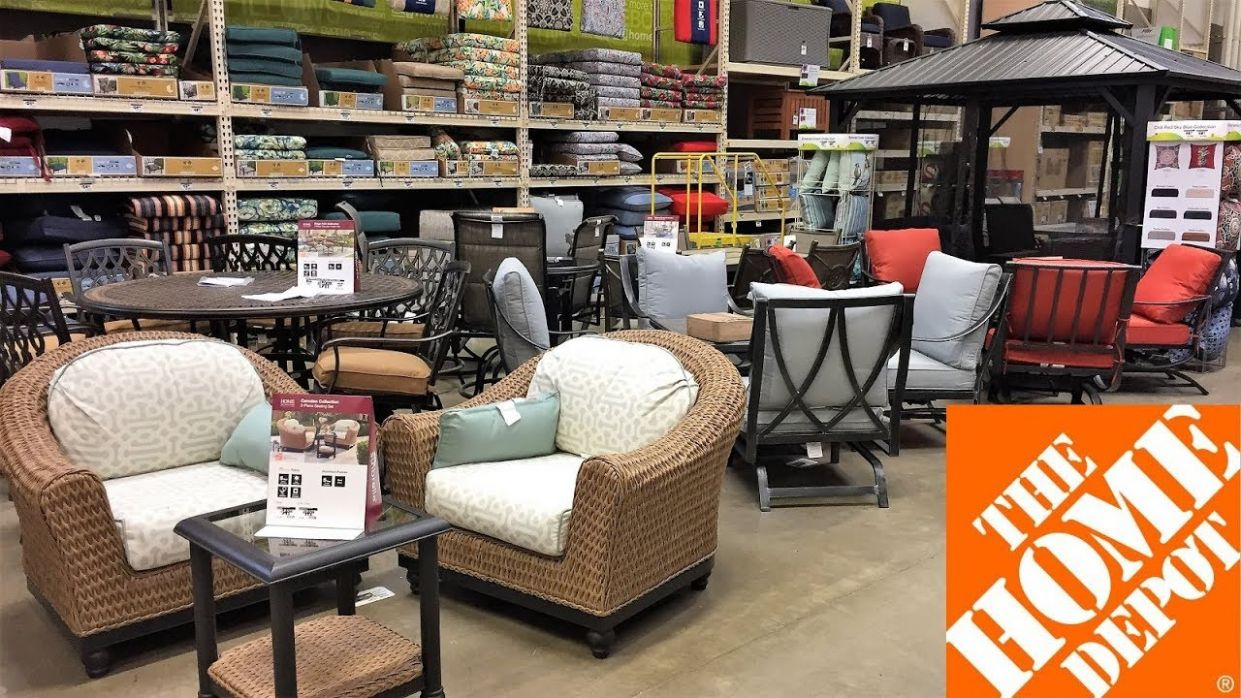 HOME DEPOT OUTDOOR PATIO FURNITURE SUMMER HOME DECOR SHOP WITH ME SHOPPING  STORE WALK THROUGH 10K