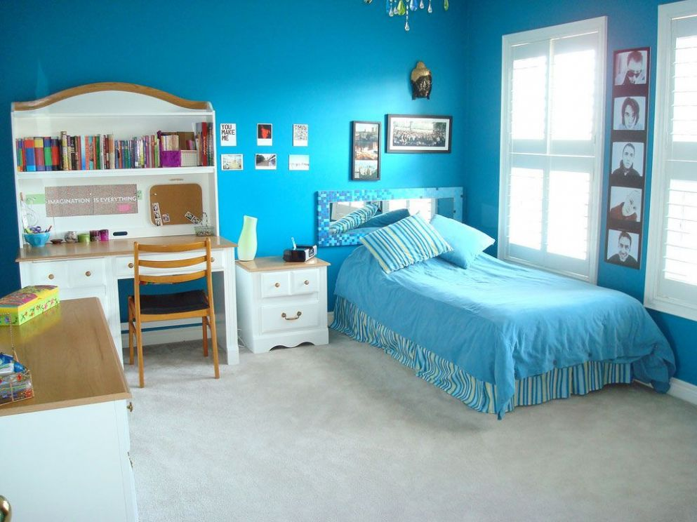 Home Interior, Blue and Pink Bedroom Ideas for Your Kids: Bright ..